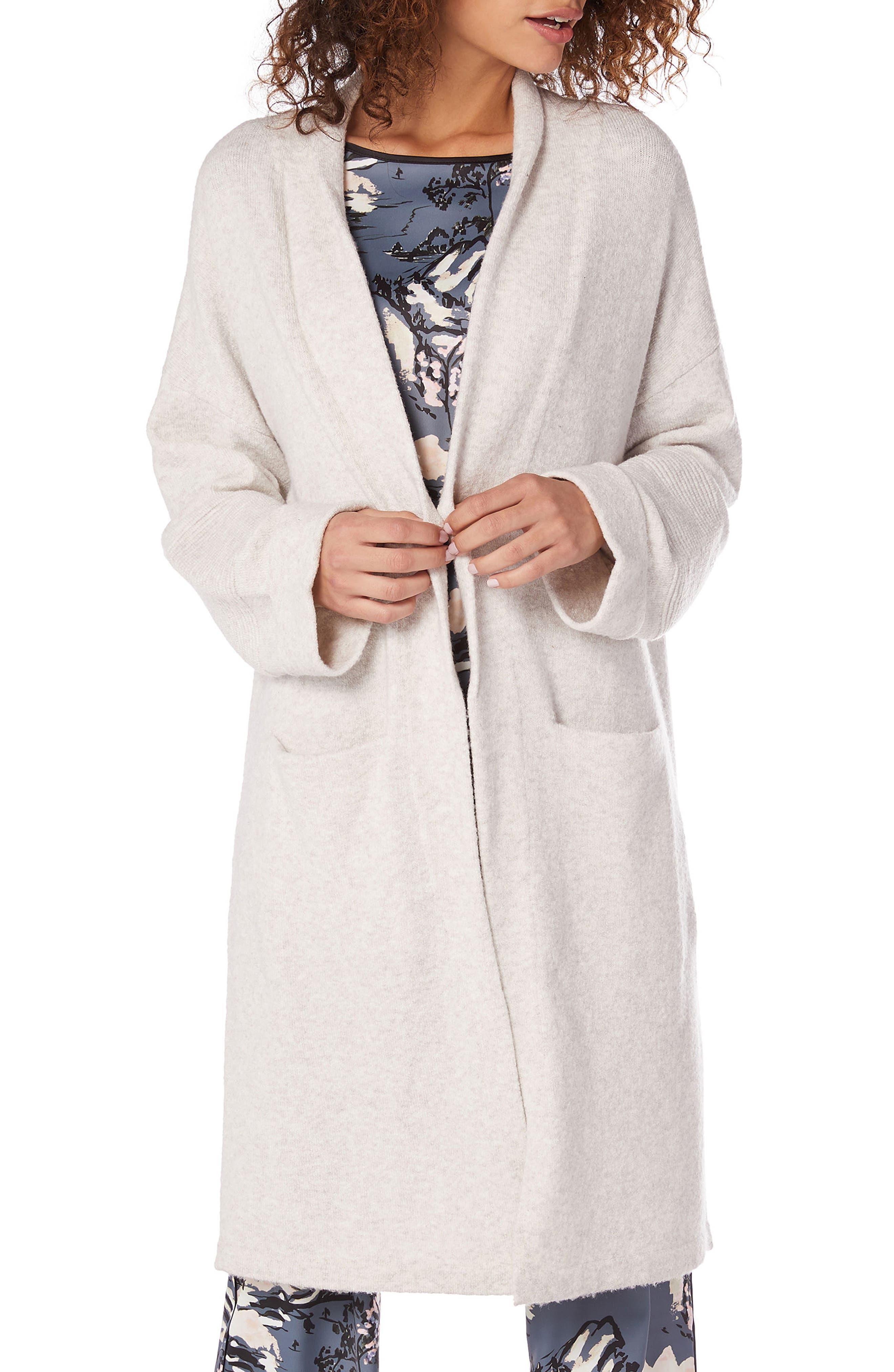 MICHAEL STARS Cozy Knit Shawl Collar Cardigan in Ash