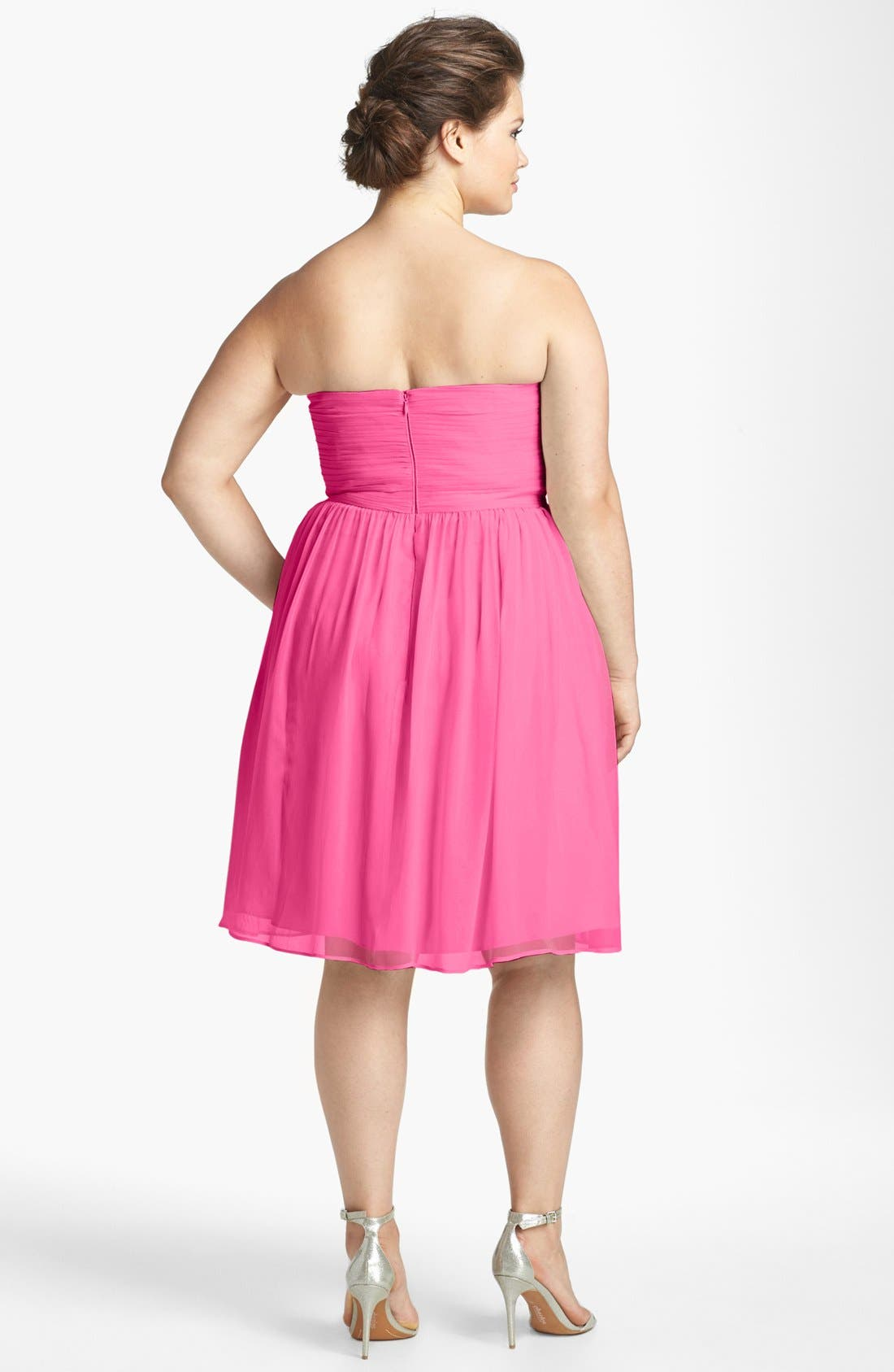 'Morgan' Strapless Silk Chiffon Dress,                             Alternate thumbnail 120, color,