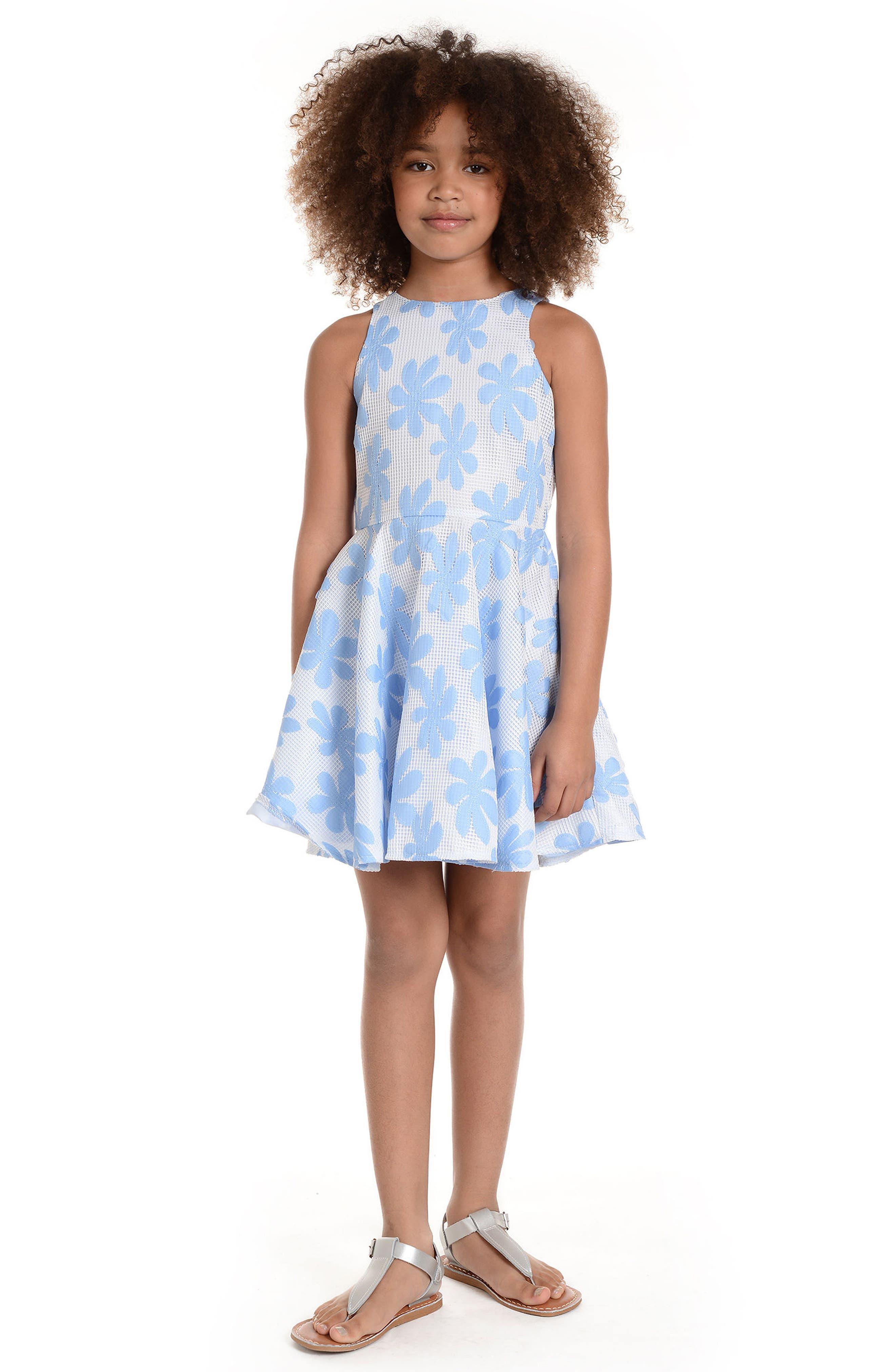PIPPA & JULIE,                             Daisy Appliqué Mesh Dress,                             Alternate thumbnail 2, color,                             119