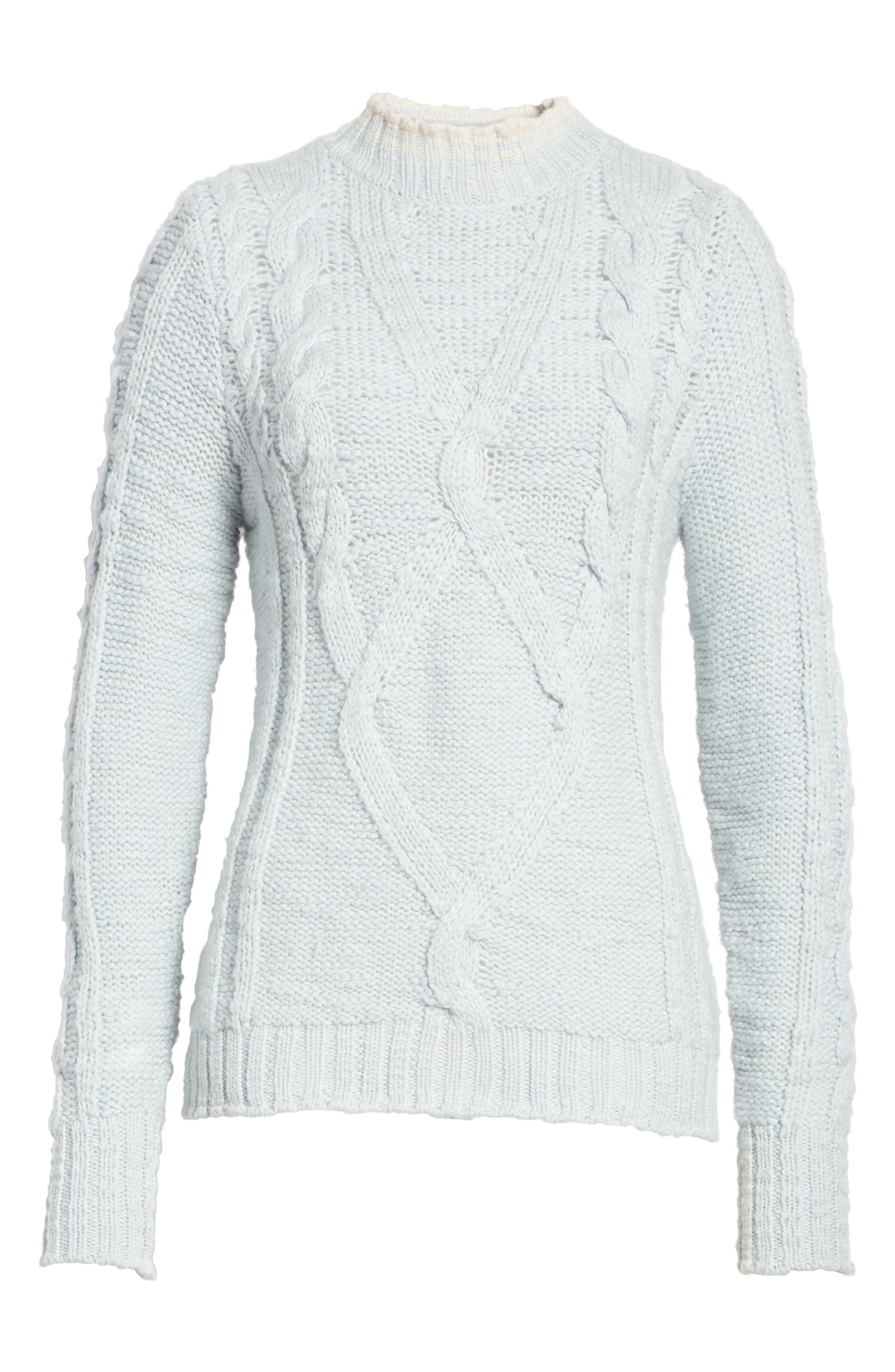 Mock Neck Wool Pullover,                             Alternate thumbnail 6, color,                             424