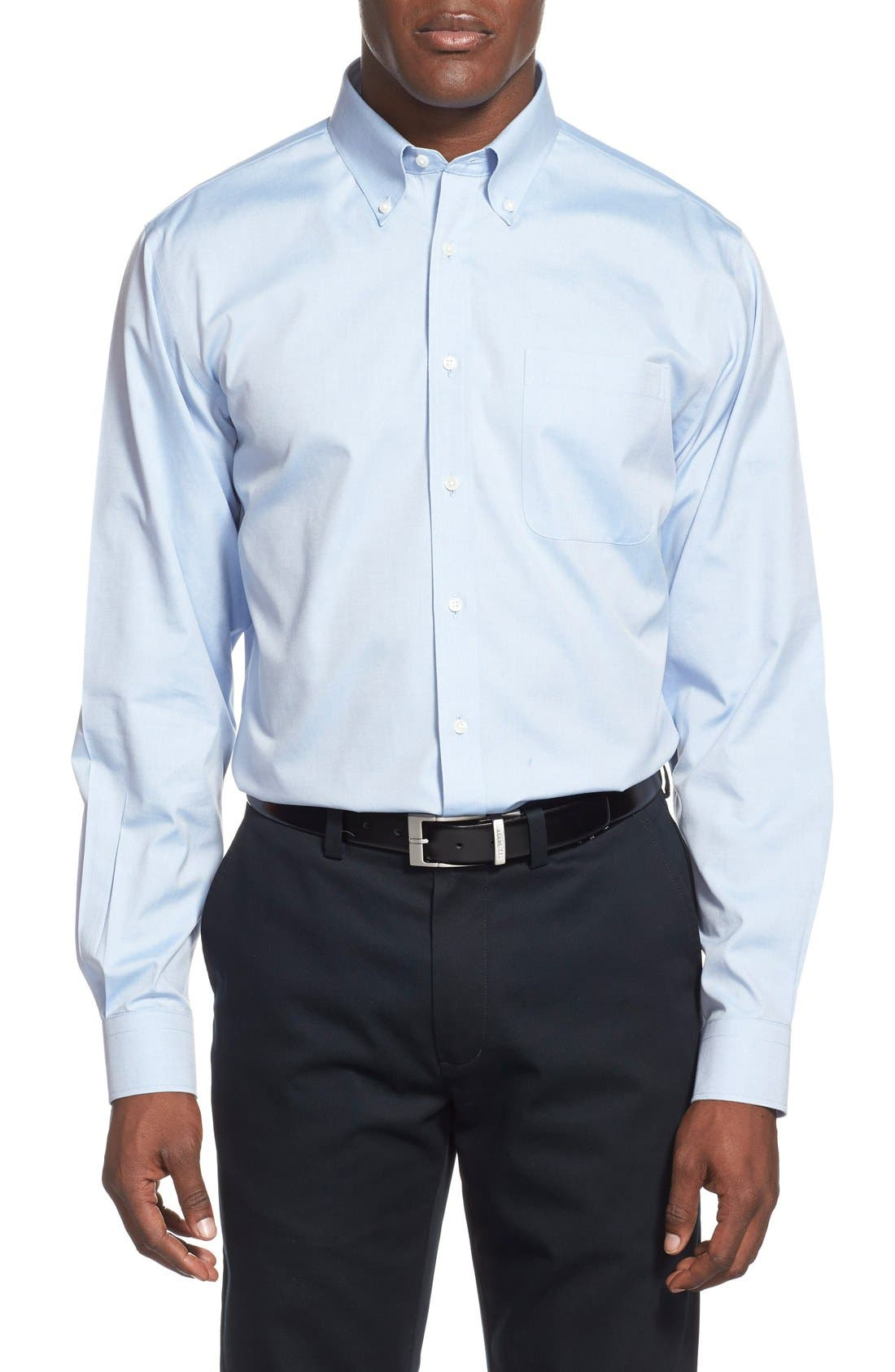 Smartcare<sup>™</sup> Traditional Fit Pinpoint Dress Shirt,                             Alternate thumbnail 76, color,