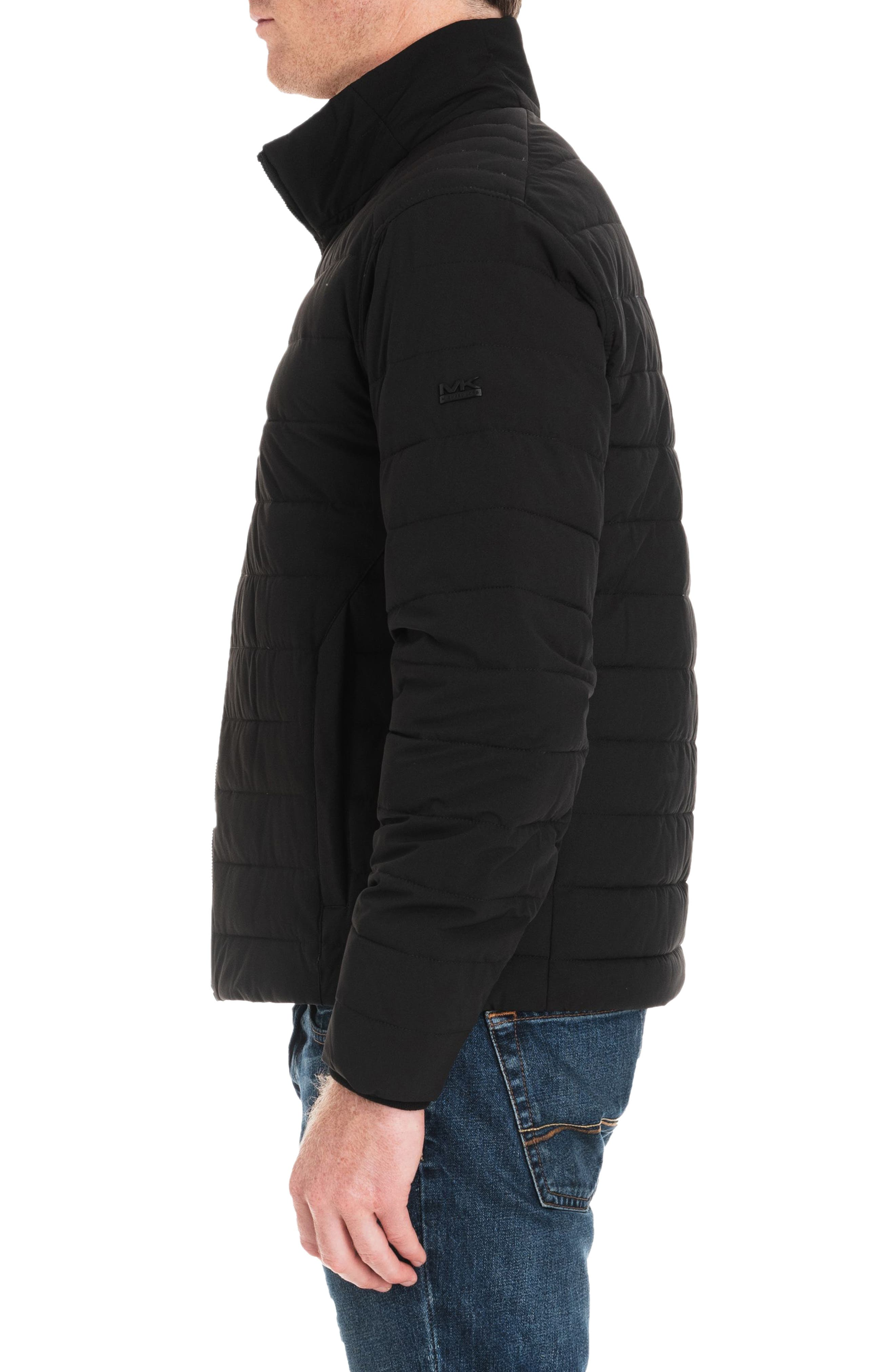 Fulton Quilted Jacket,                             Alternate thumbnail 3, color,                             BLACK/ MIDNIGHT