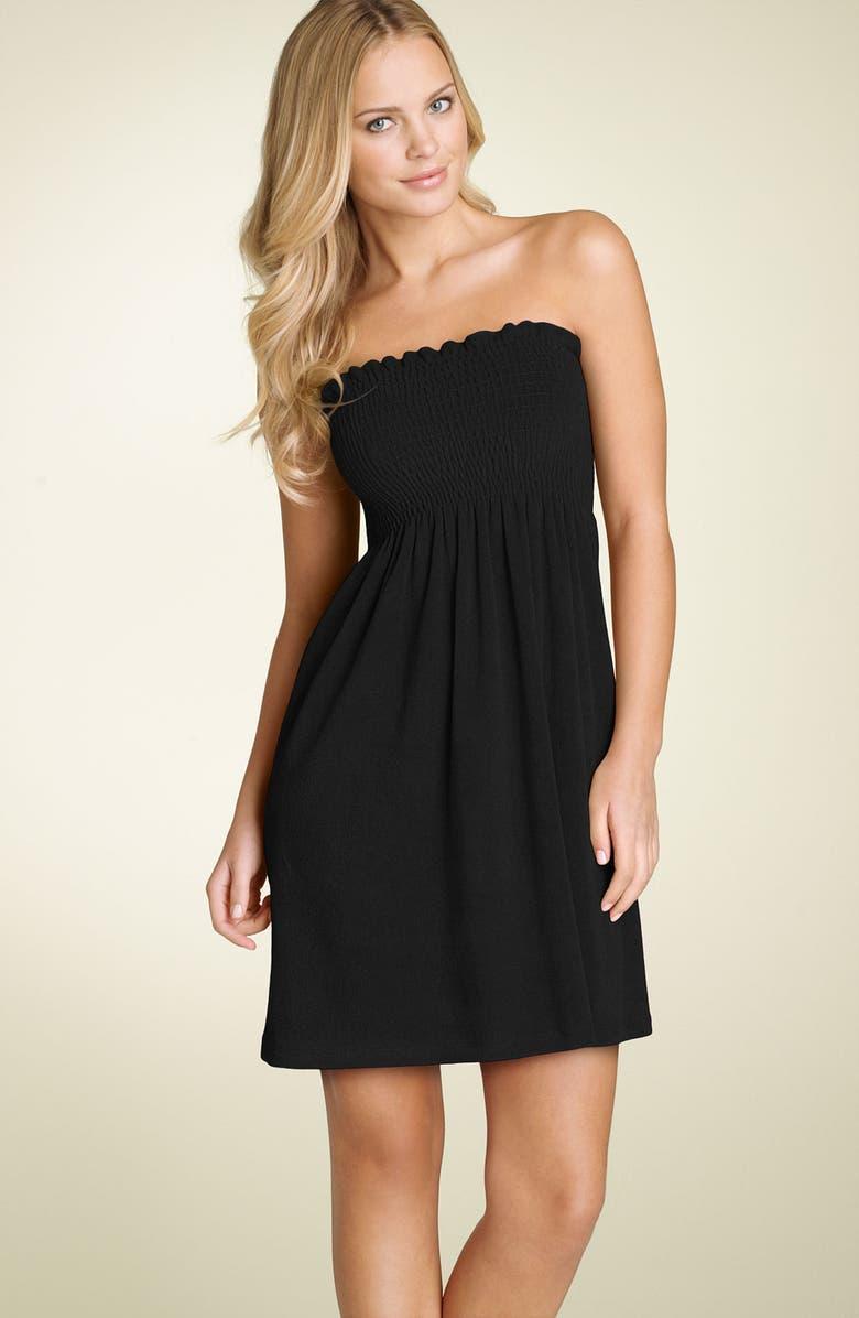 0f2addb423 La Blanca Smocked Terry Cover-Up Dress