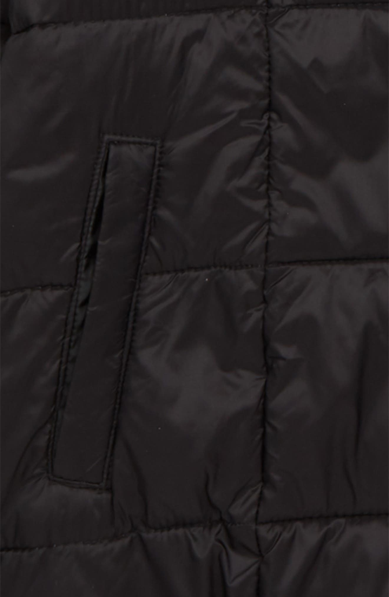 Packable Puffer Jacket,                             Alternate thumbnail 2, color,                             BLACK