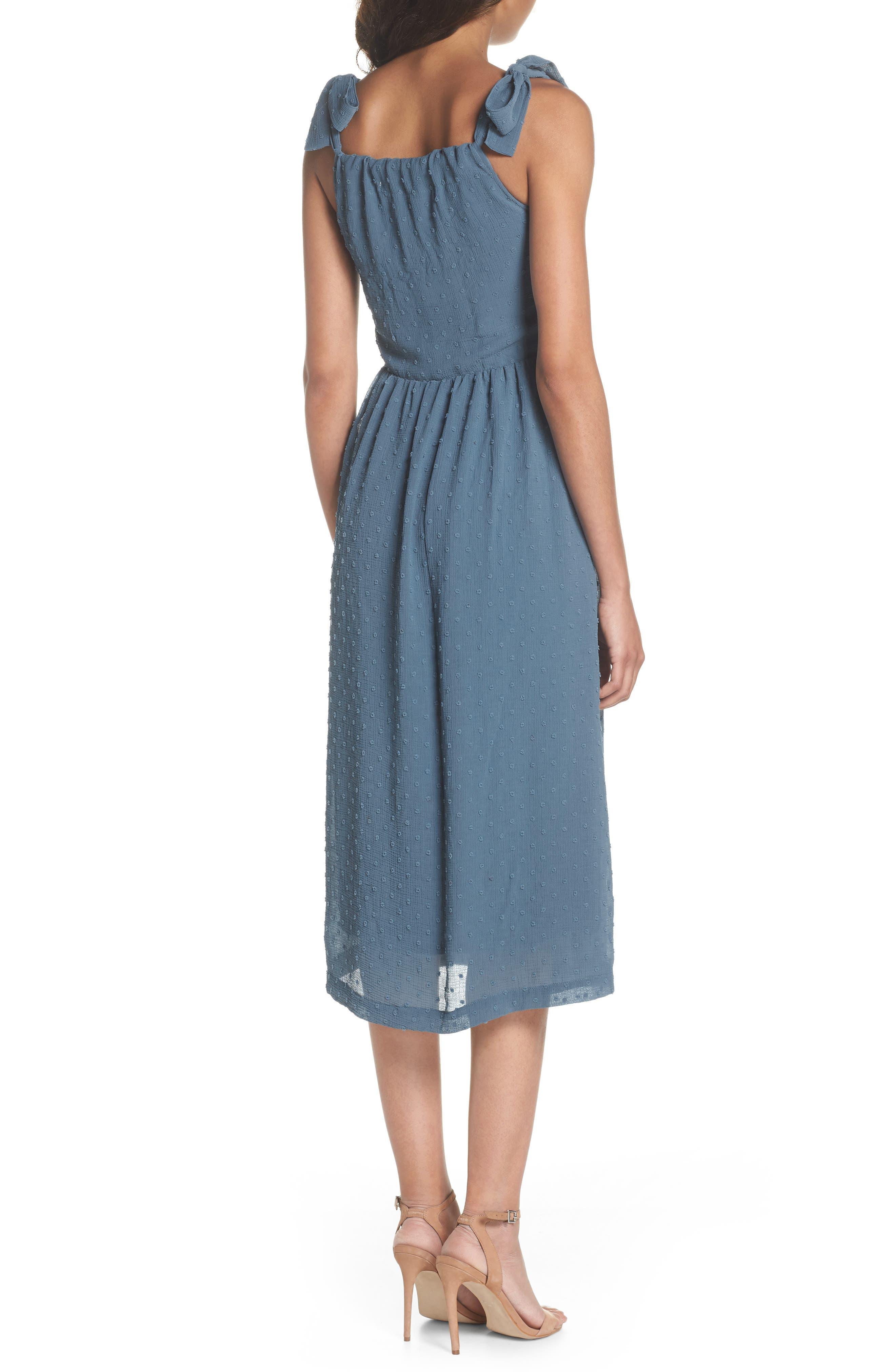 Tie Shoulder Midi Dress,                             Alternate thumbnail 2, color,                             400
