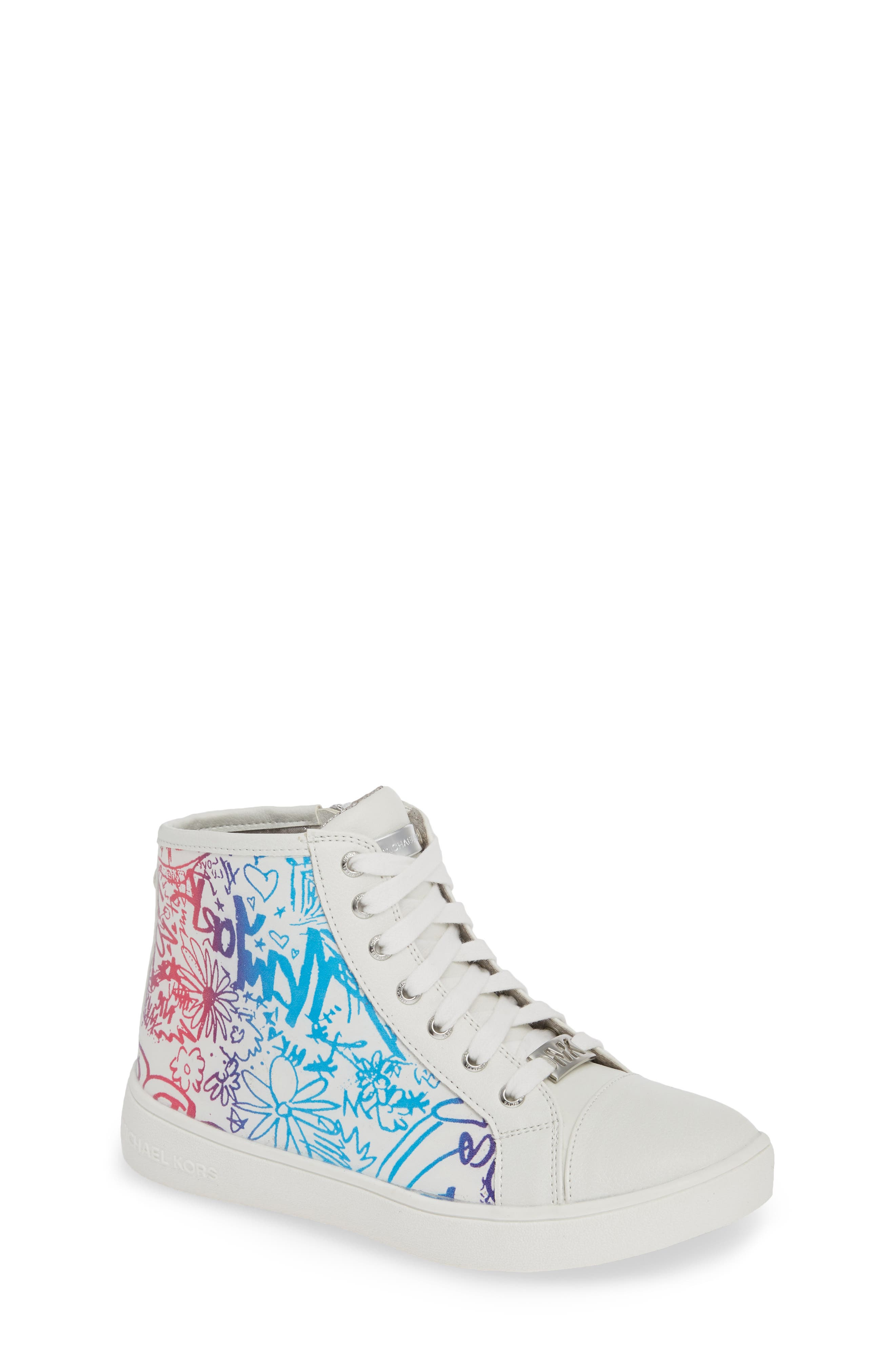 Ivy Spectra High Top Sneaker,                         Main,                         color, WHITE MULTI
