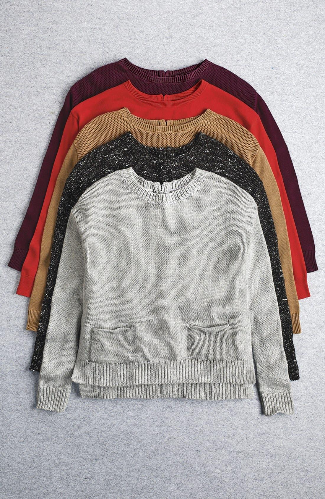 Drop Shoulder Pocket Sweater,                             Alternate thumbnail 2, color,                             440