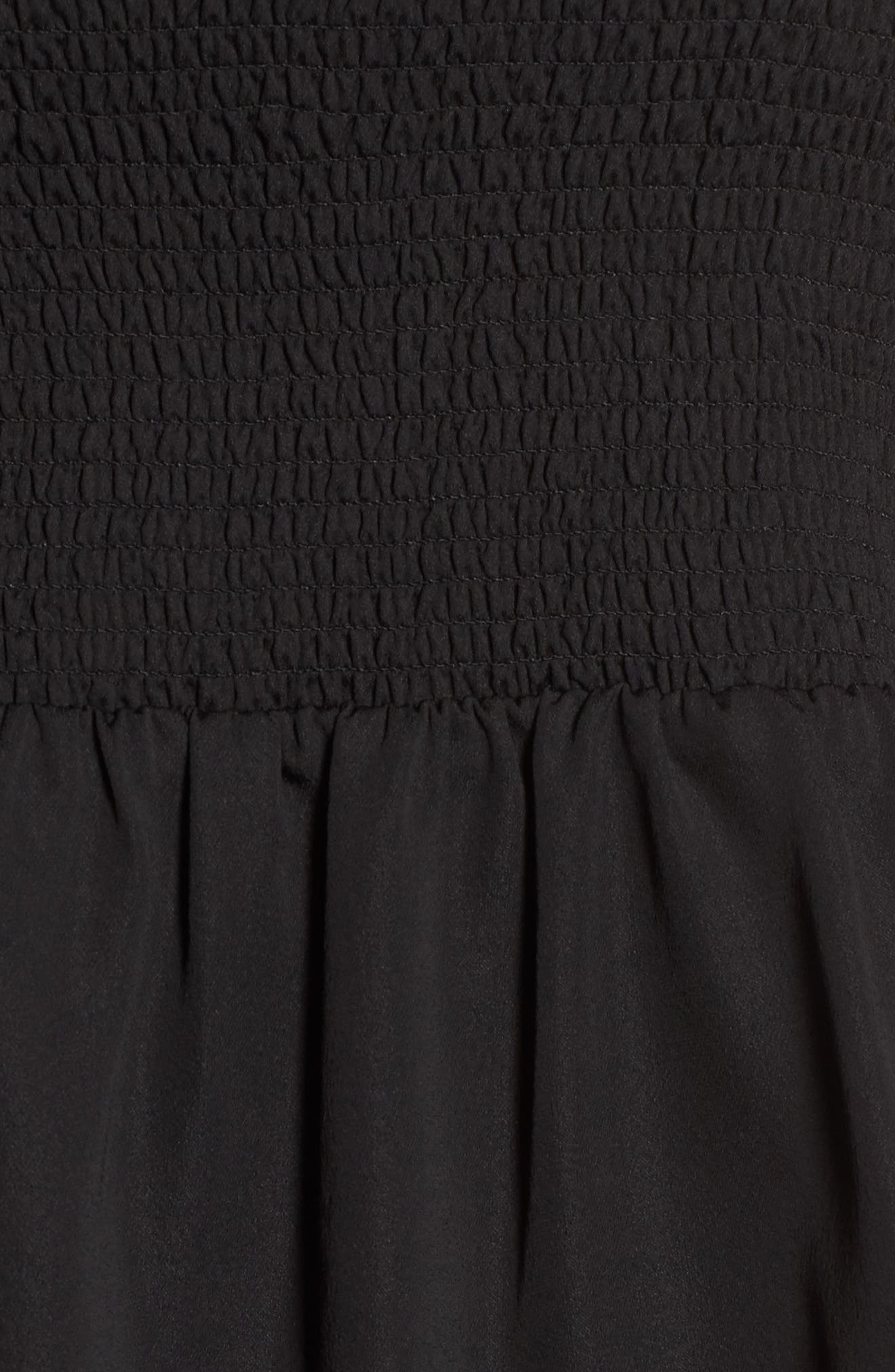 Smocked Top,                             Alternate thumbnail 5, color,                             001