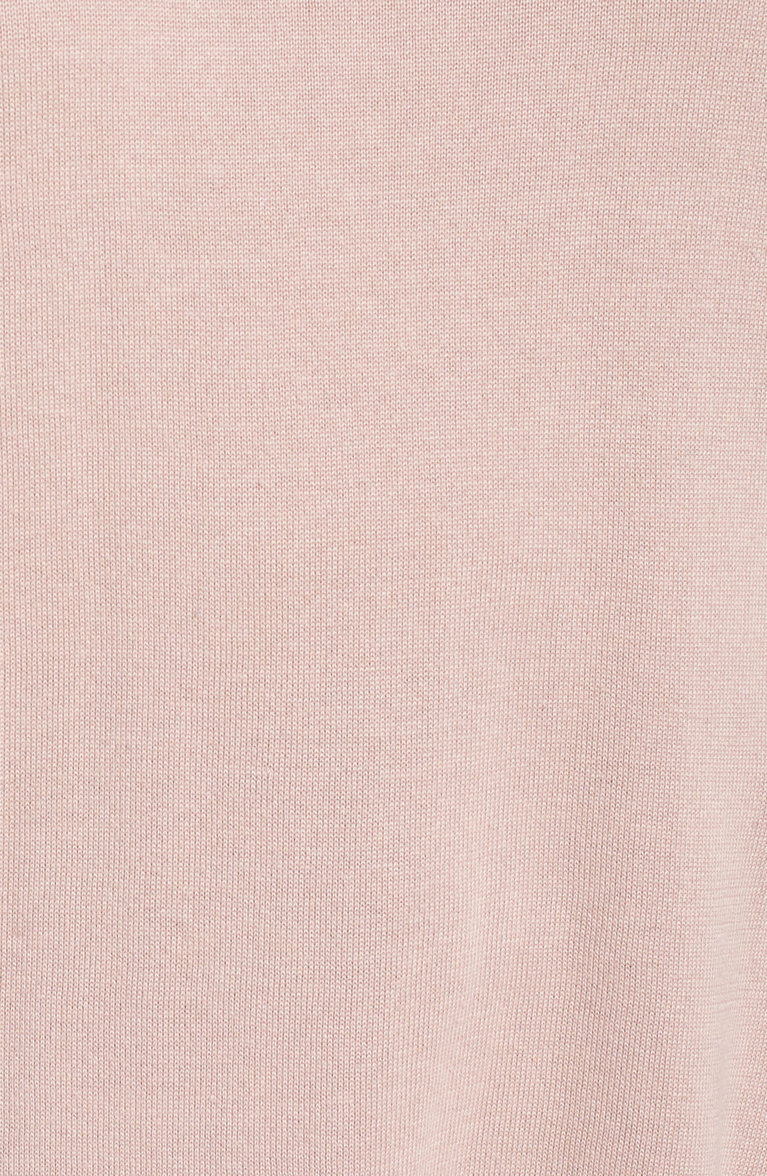Roll Sleeve Tunic Sweater,                             Alternate thumbnail 5, color,                             PINK ADOBE