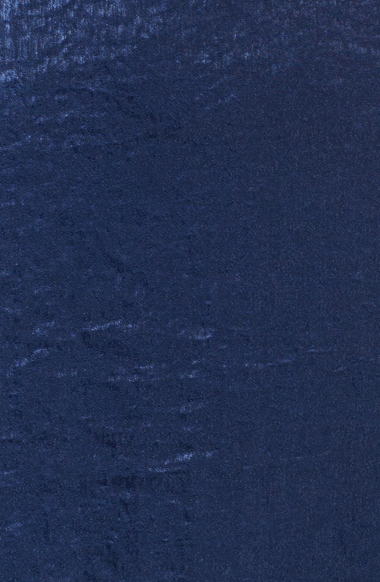 Satin Cold Shoulder Dress,                             Alternate thumbnail 5, color,                             400