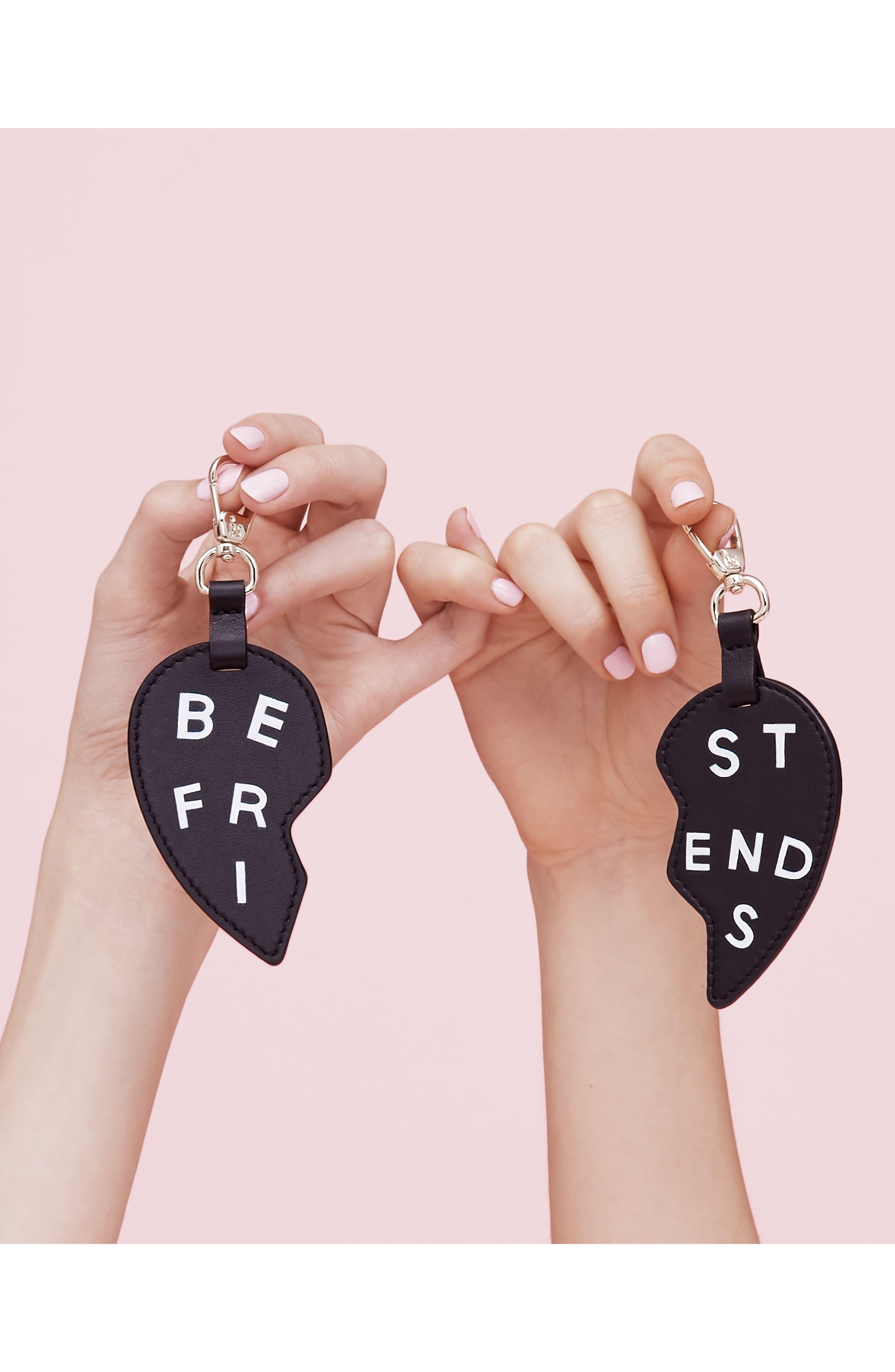 BFF Heart Bag Charms,                             Alternate thumbnail 2, color,                             001