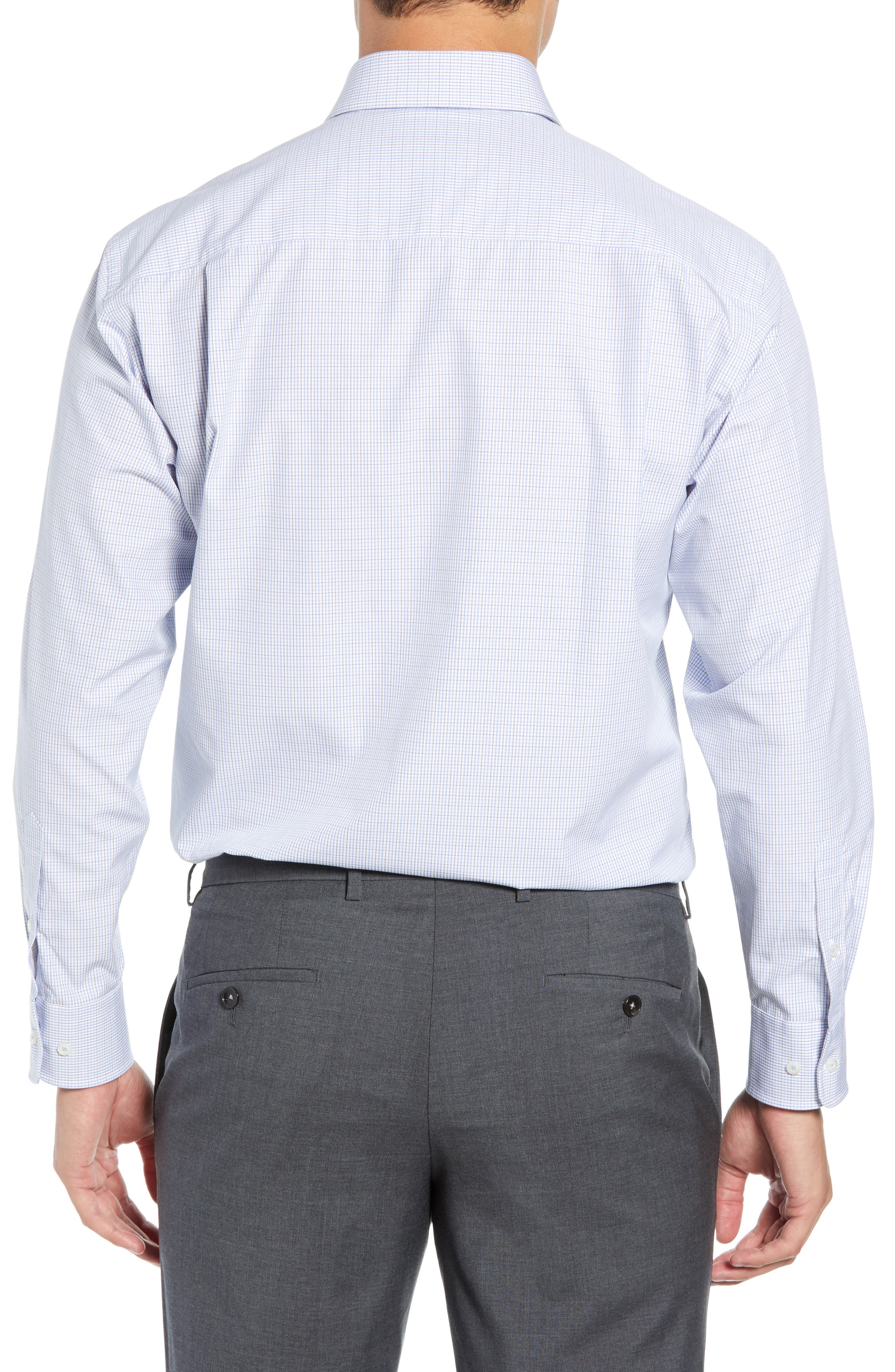 Regular Fit Check Dress Shirt,                             Alternate thumbnail 3, color,                             020