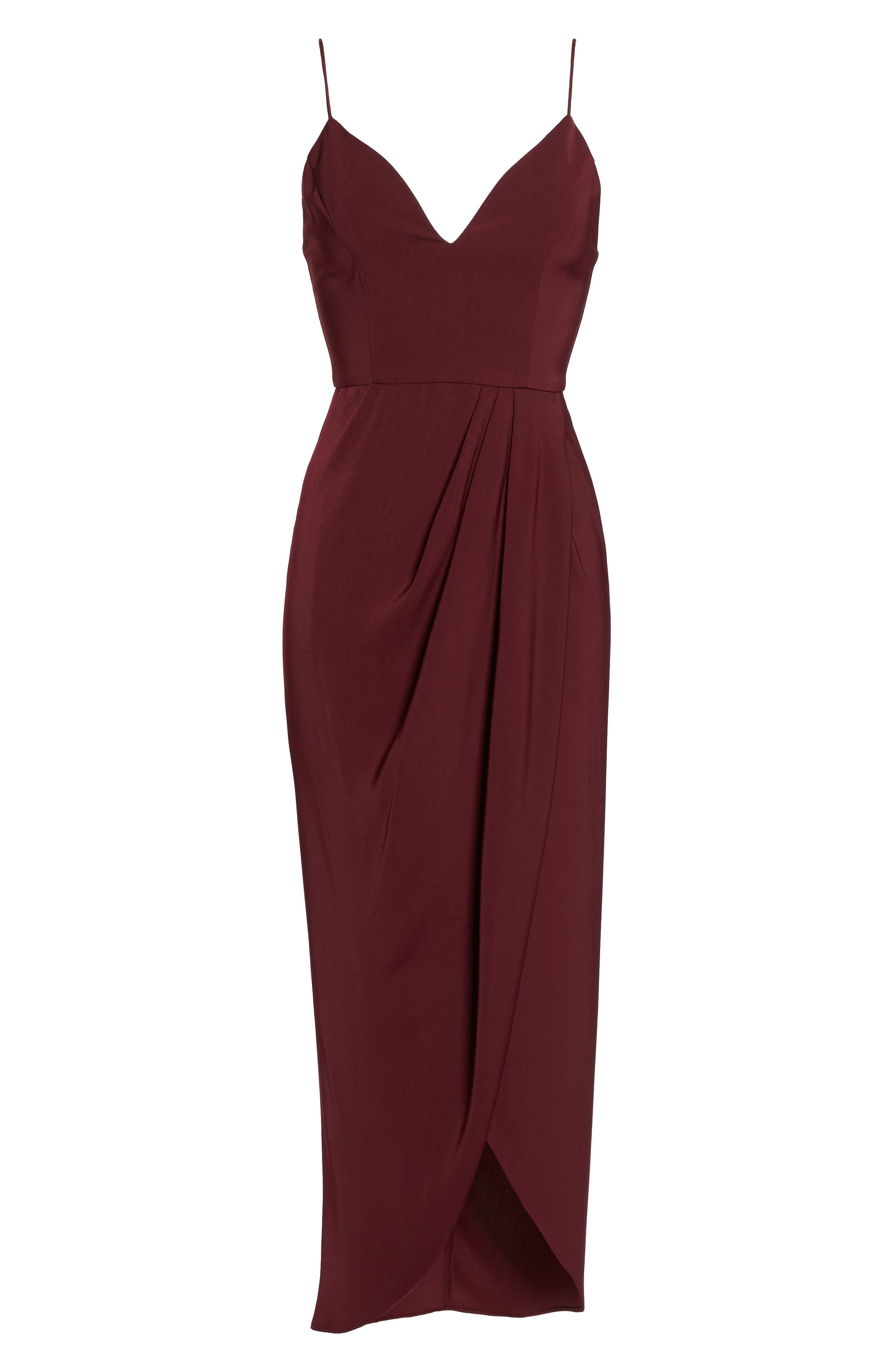SHONA JOY,                             Tulip Hem Maxi Dress,                             Alternate thumbnail 7, color,                             BURGUNDY