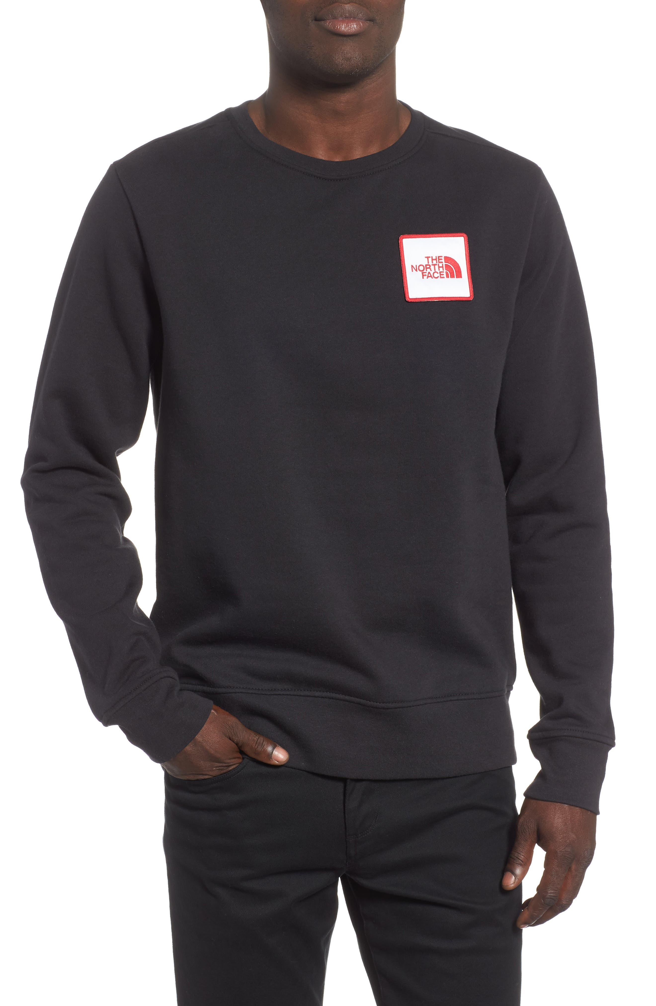 Logo Sweatshirt,                         Main,                         color, TNF BLACK
