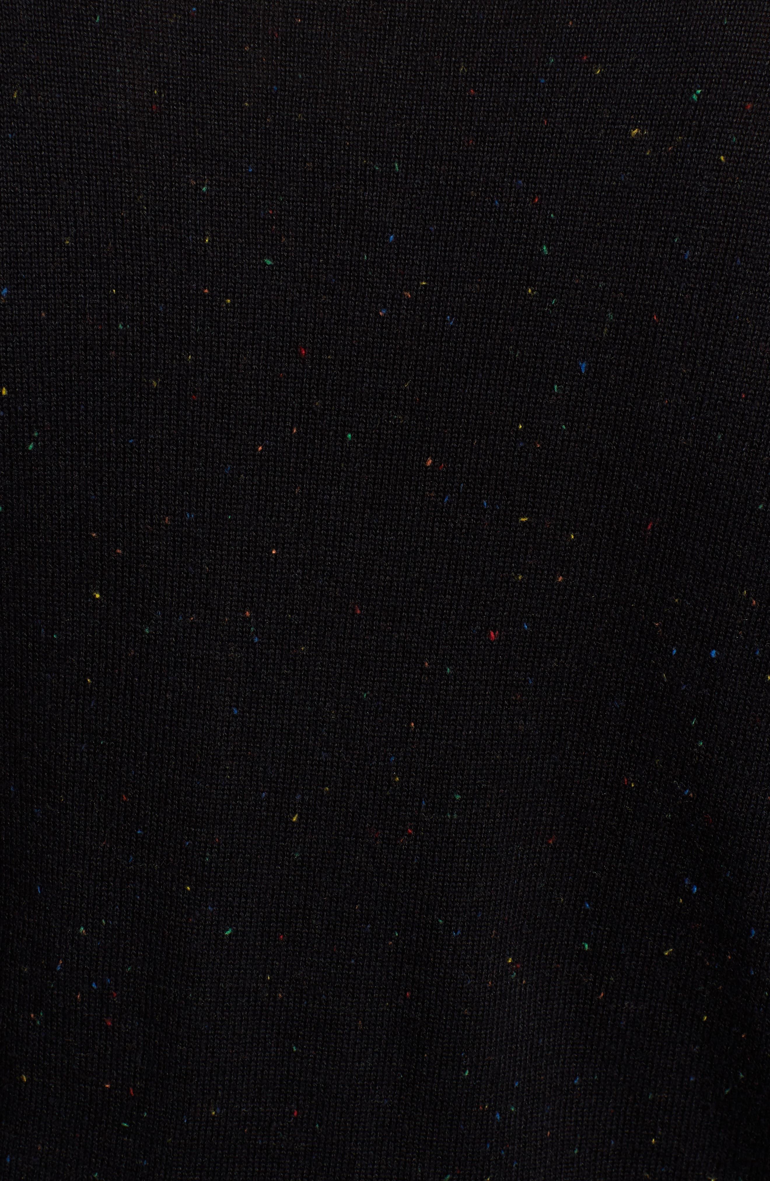 Transcript Ruffle Sweater,                             Alternate thumbnail 5, color,                             BLACK