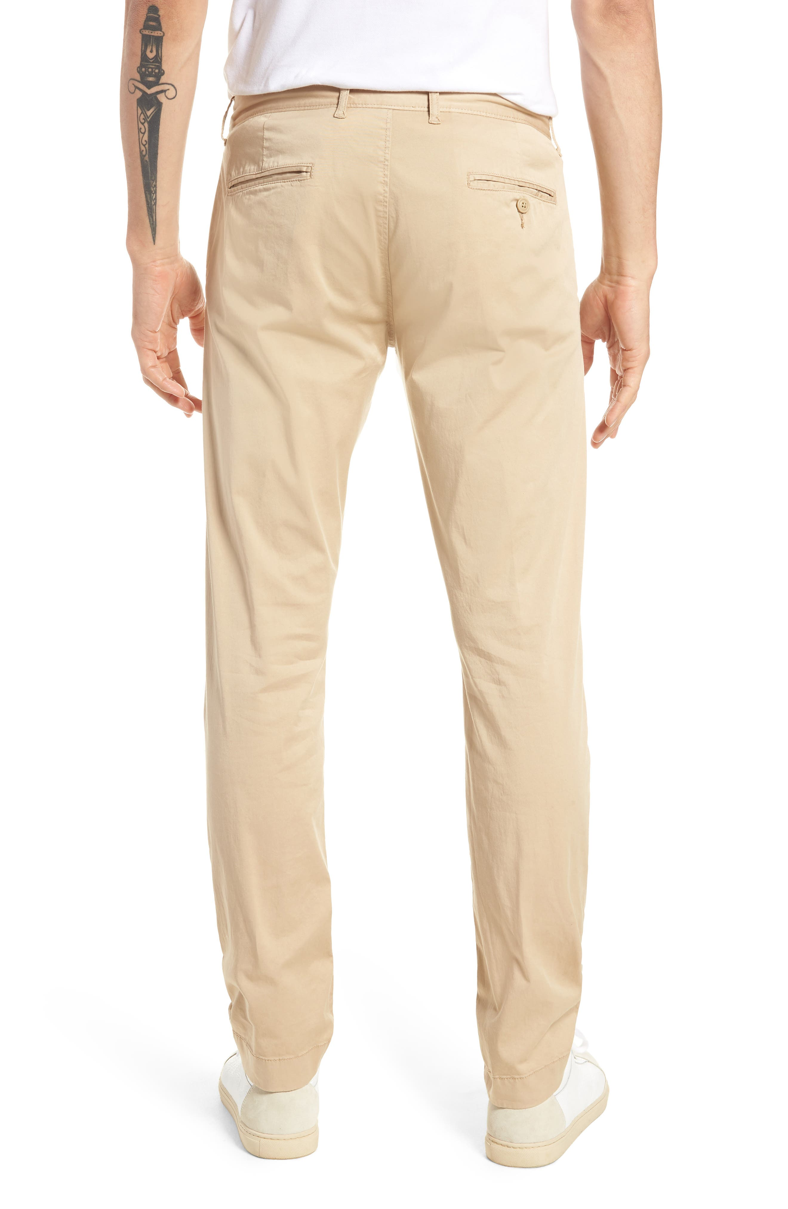 Slim Fit Garment Dyed Stretch Chinos,                             Alternate thumbnail 6, color,