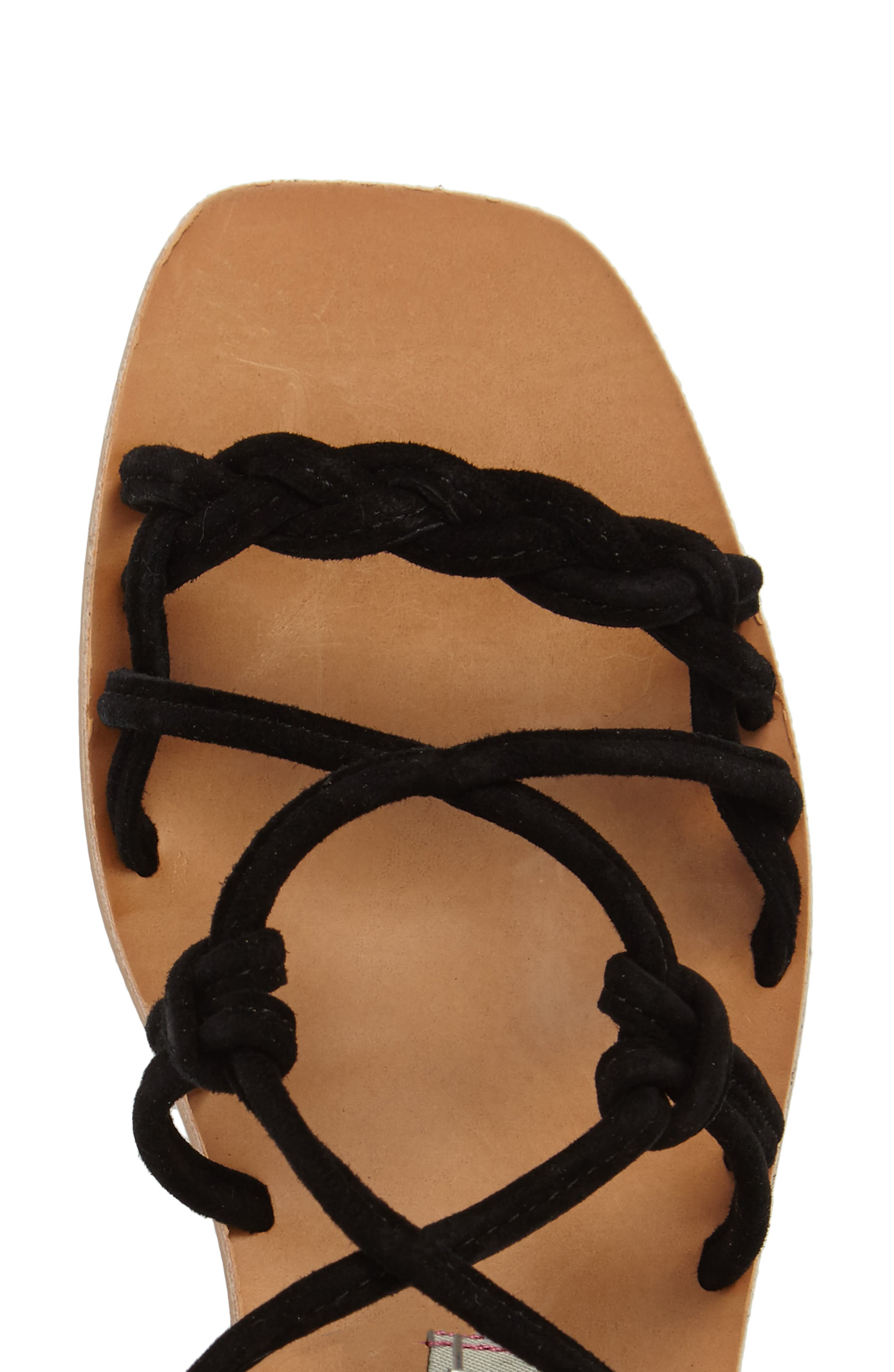 KRISTIN CAVALLARI,                             Tori Knotted Wraparound Sandal,                             Alternate thumbnail 5, color,                             001