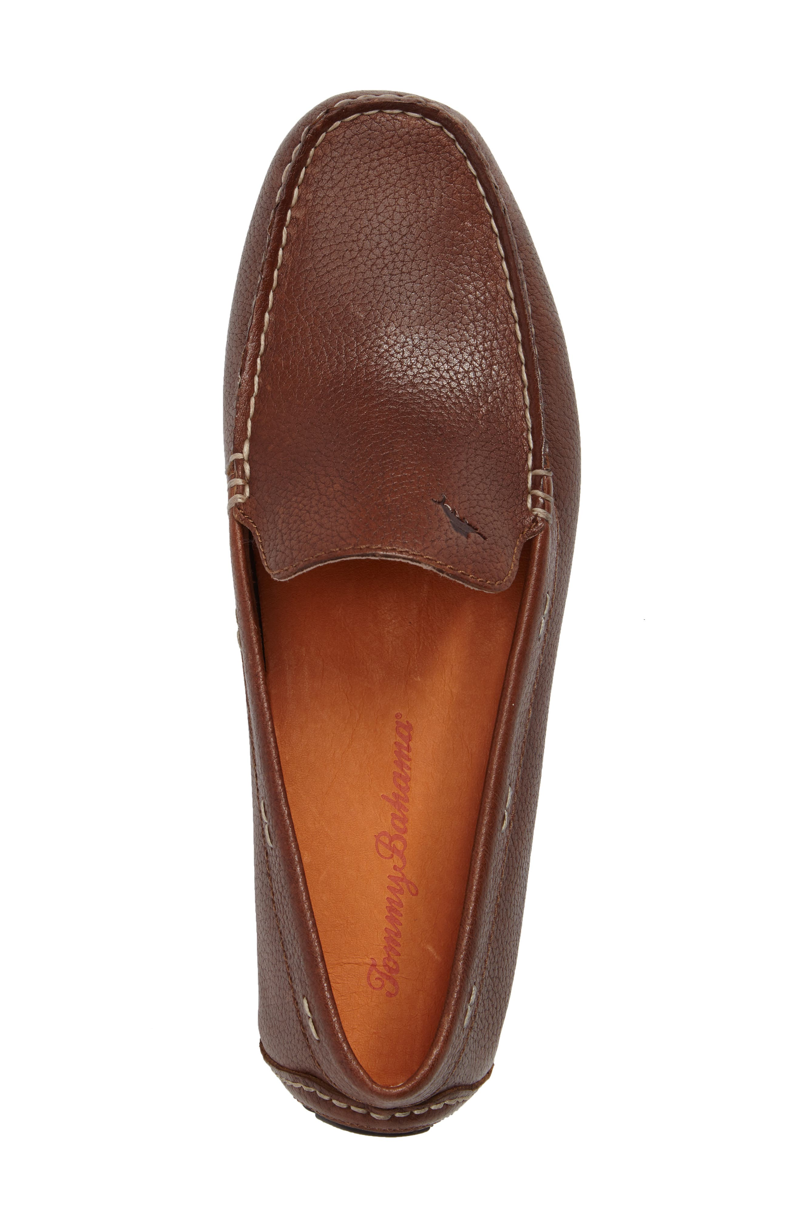 Pagota Driving Loafer,                             Alternate thumbnail 5, color,                             DARK BROWN LEATHER