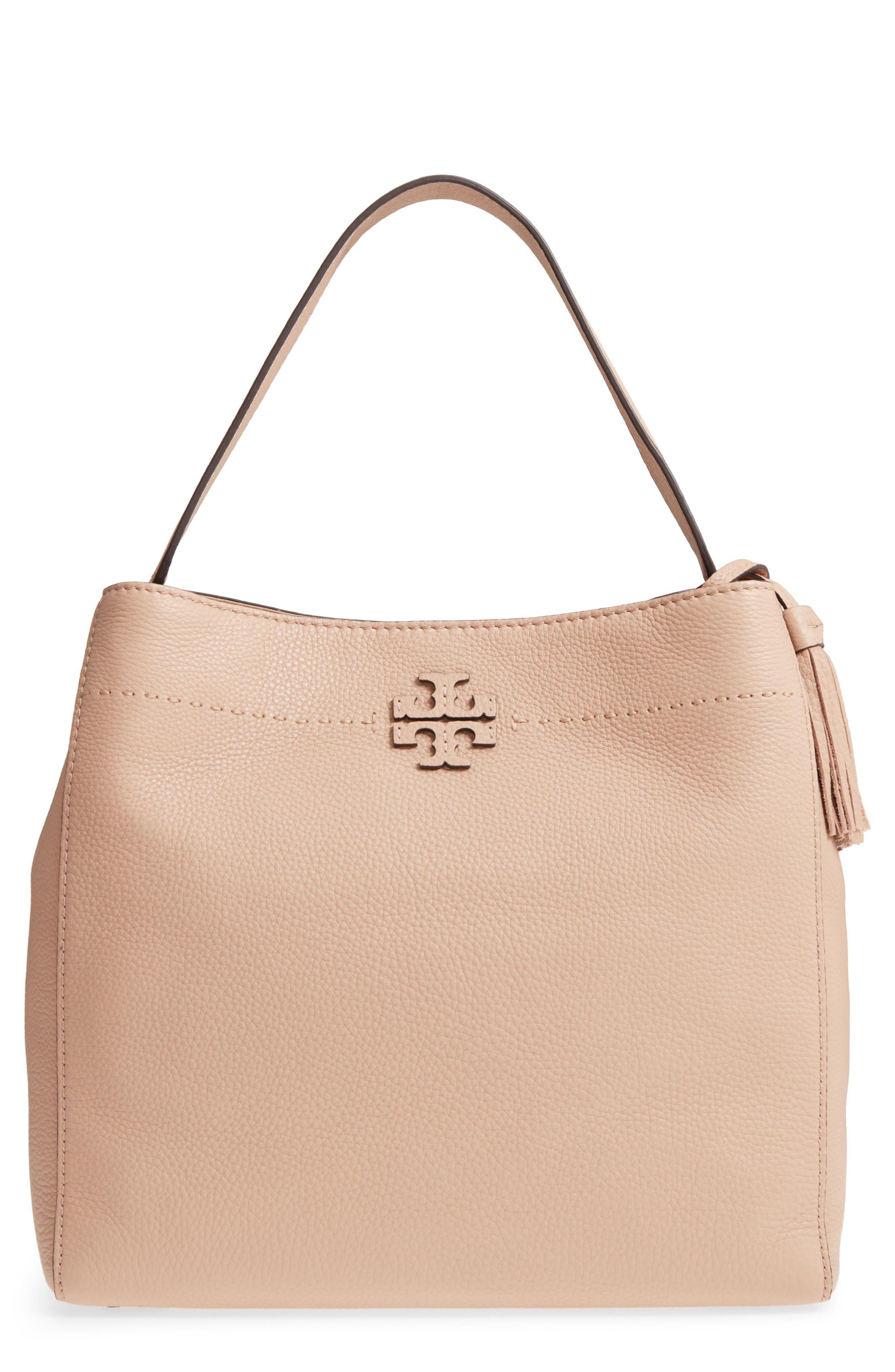 McGraw Leather Hobo,                         Main,                         color, DEVON SAND