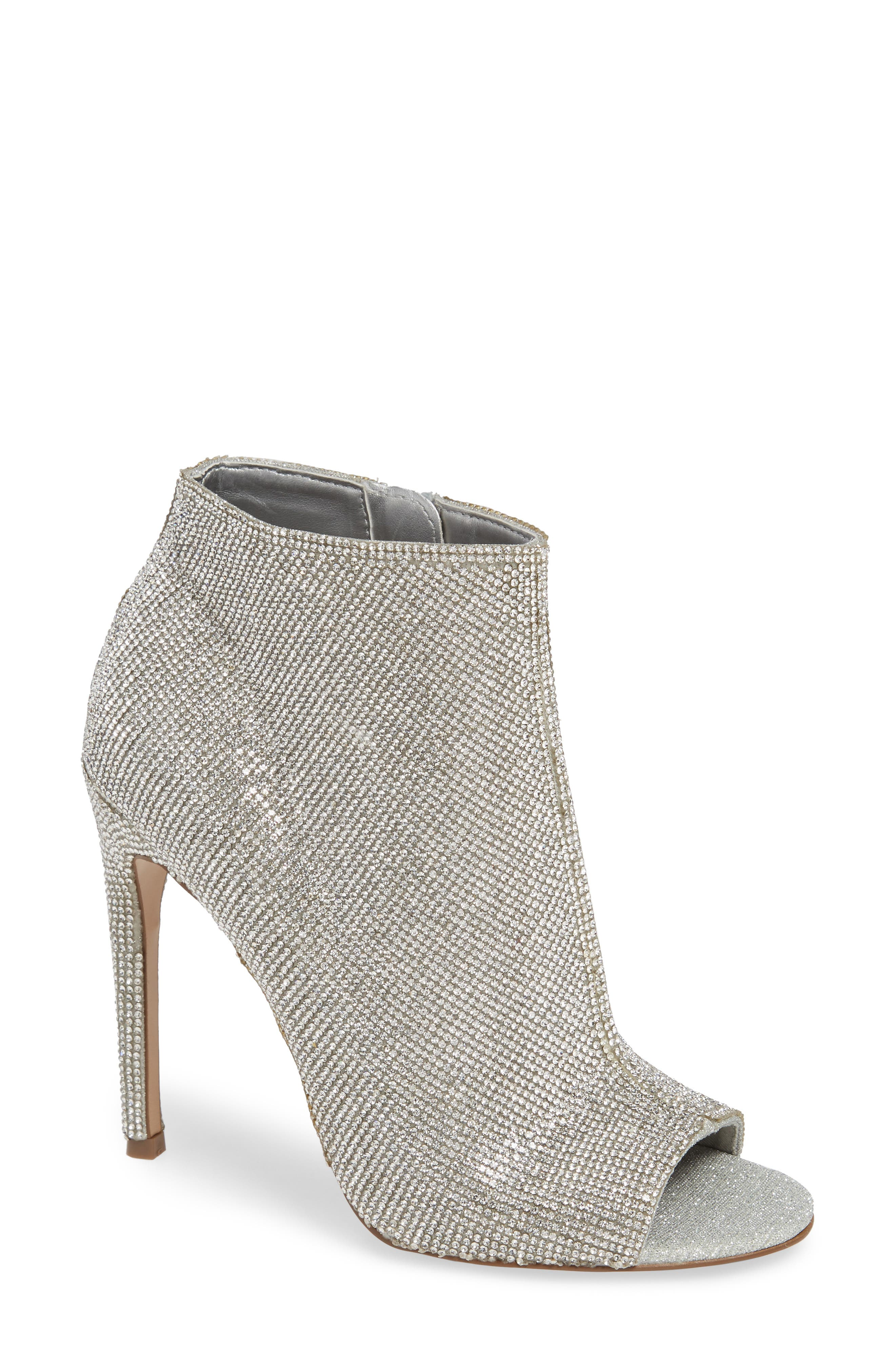 Kicking Embellished Bootie,                             Main thumbnail 1, color,                             040