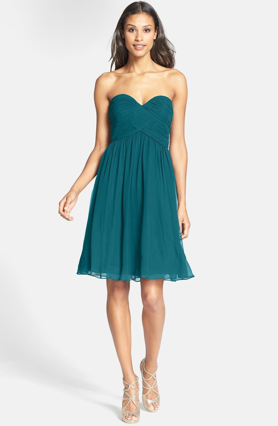 'Morgan' Strapless Silk Chiffon Dress,                             Alternate thumbnail 87, color,