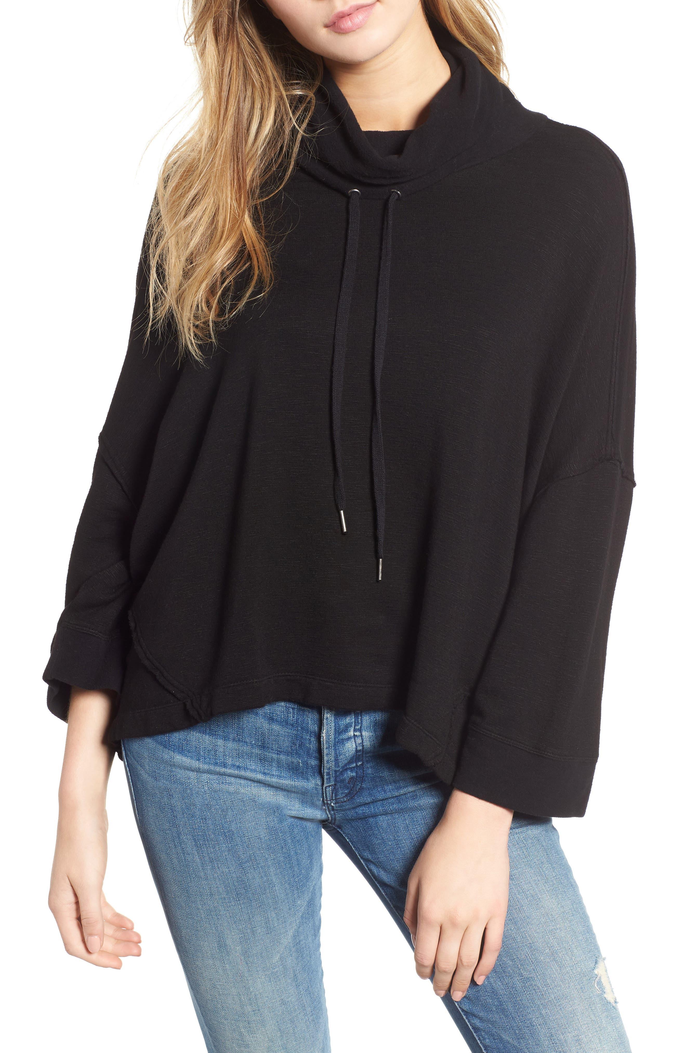 Cowl Neck Sweatshirt,                         Main,                         color, 001