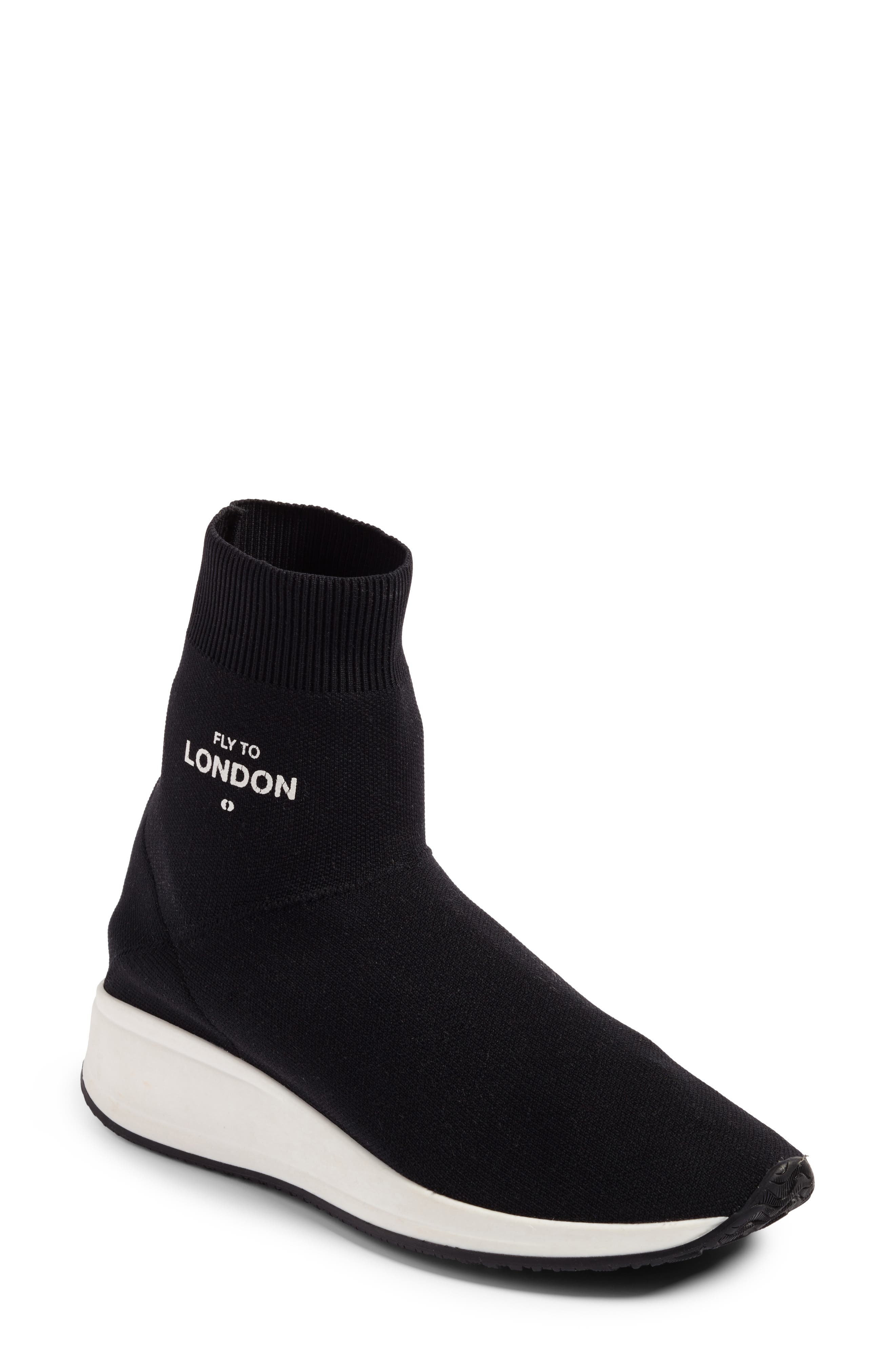 Fly To High Top Sock Sneaker,                         Main,                         color, 002