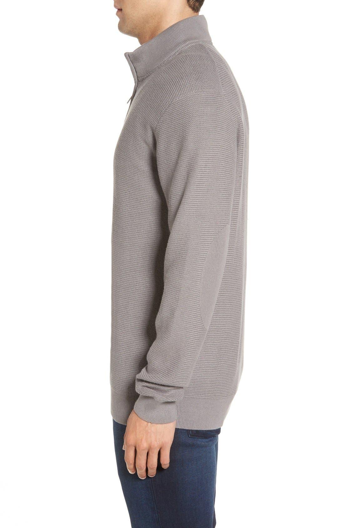 'Benson' Quarter Zip Textured Knit Sweater,                             Alternate thumbnail 5, color,