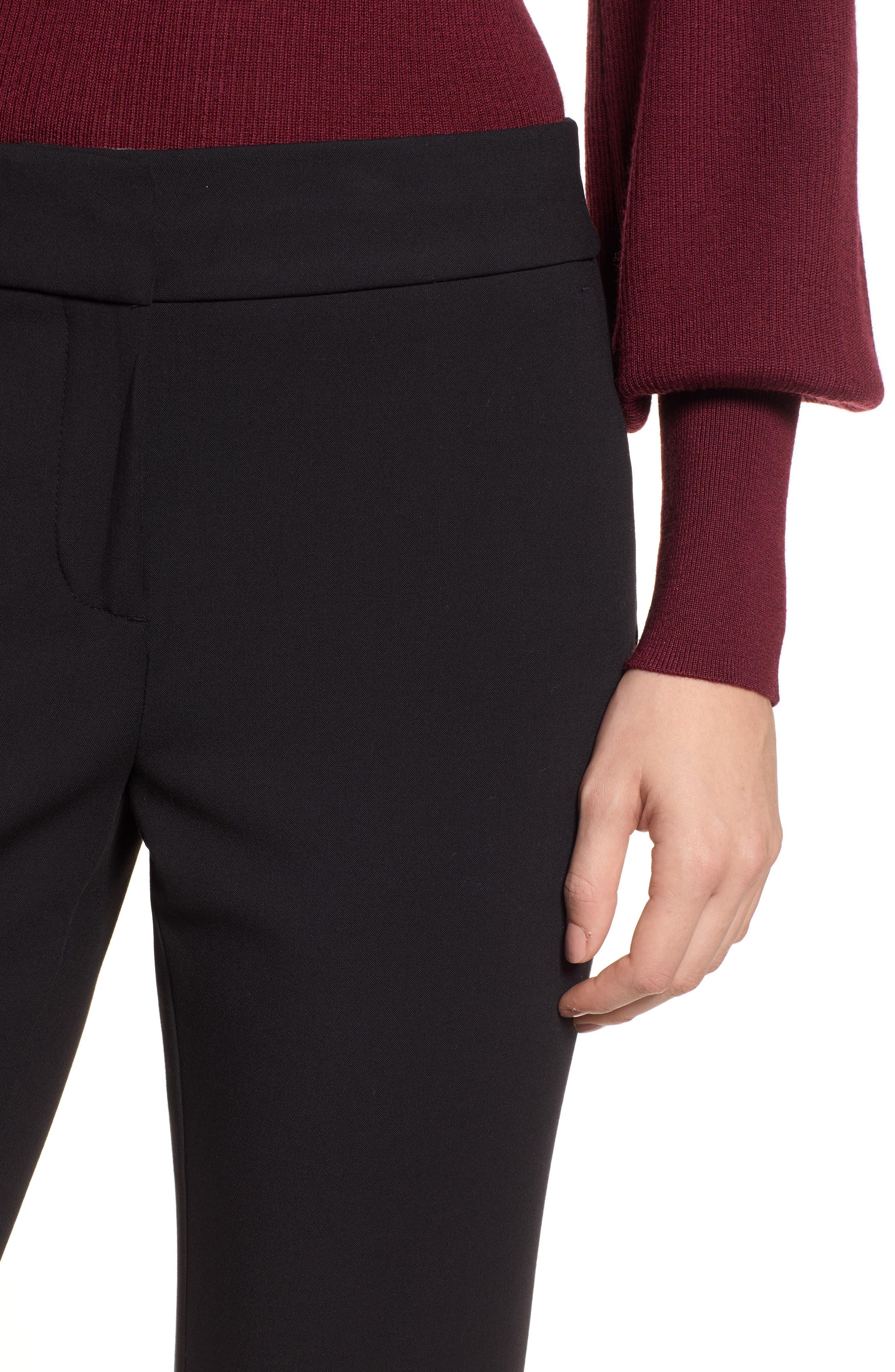 Edie Full Length Trouser in Four-Season Stretch,                             Alternate thumbnail 4, color,                             001