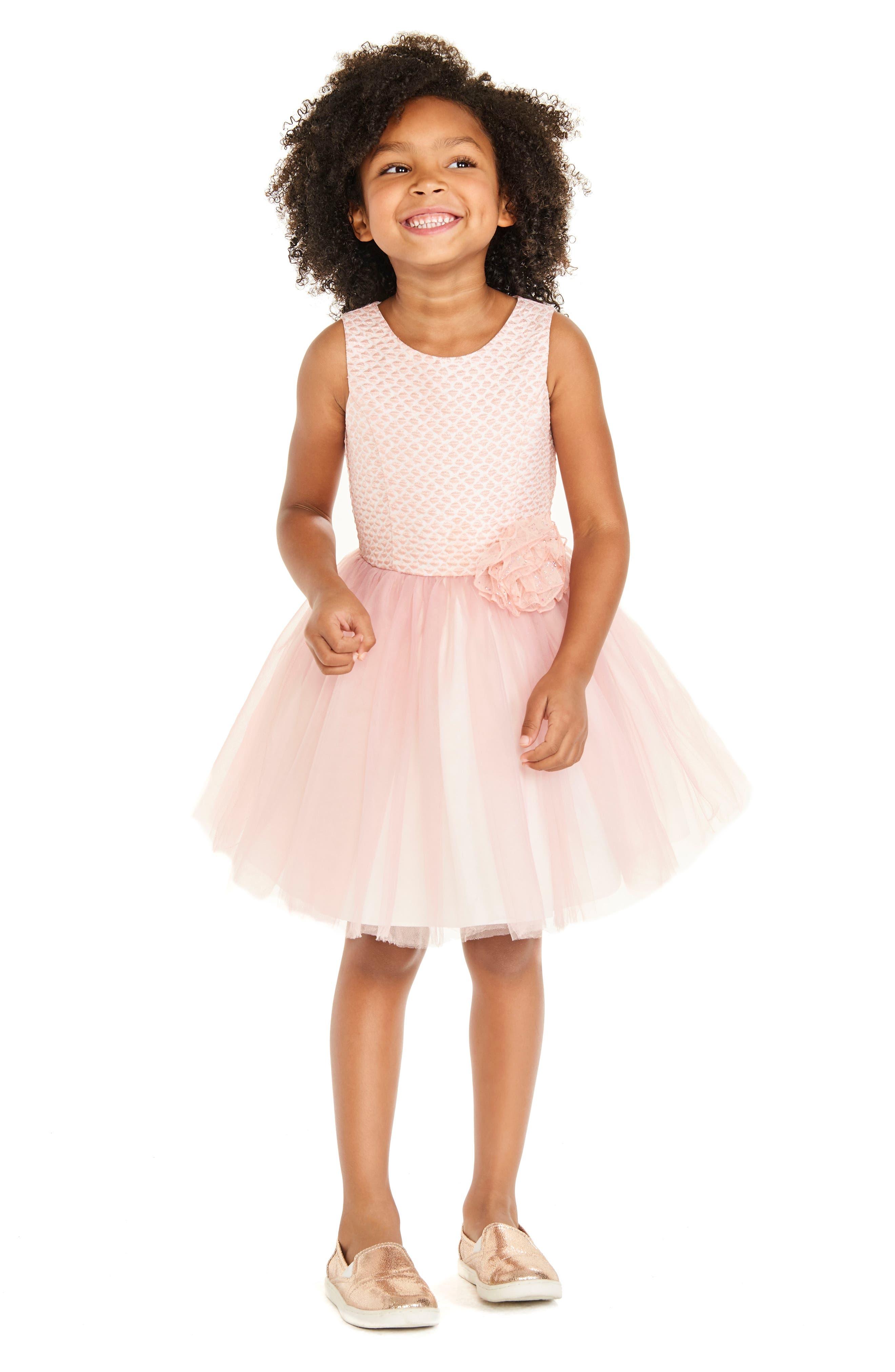 Brocade & Tulle Dress,                             Alternate thumbnail 4, color,                             650