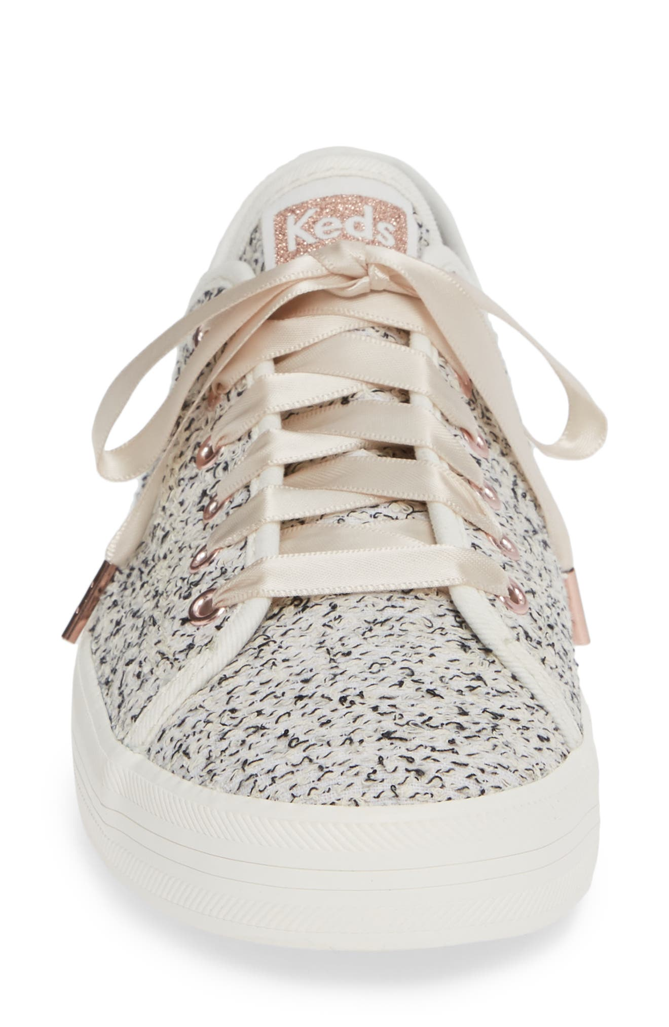 Kickstart Sneaker,                             Alternate thumbnail 4, color,                             TWO TONE WHITE