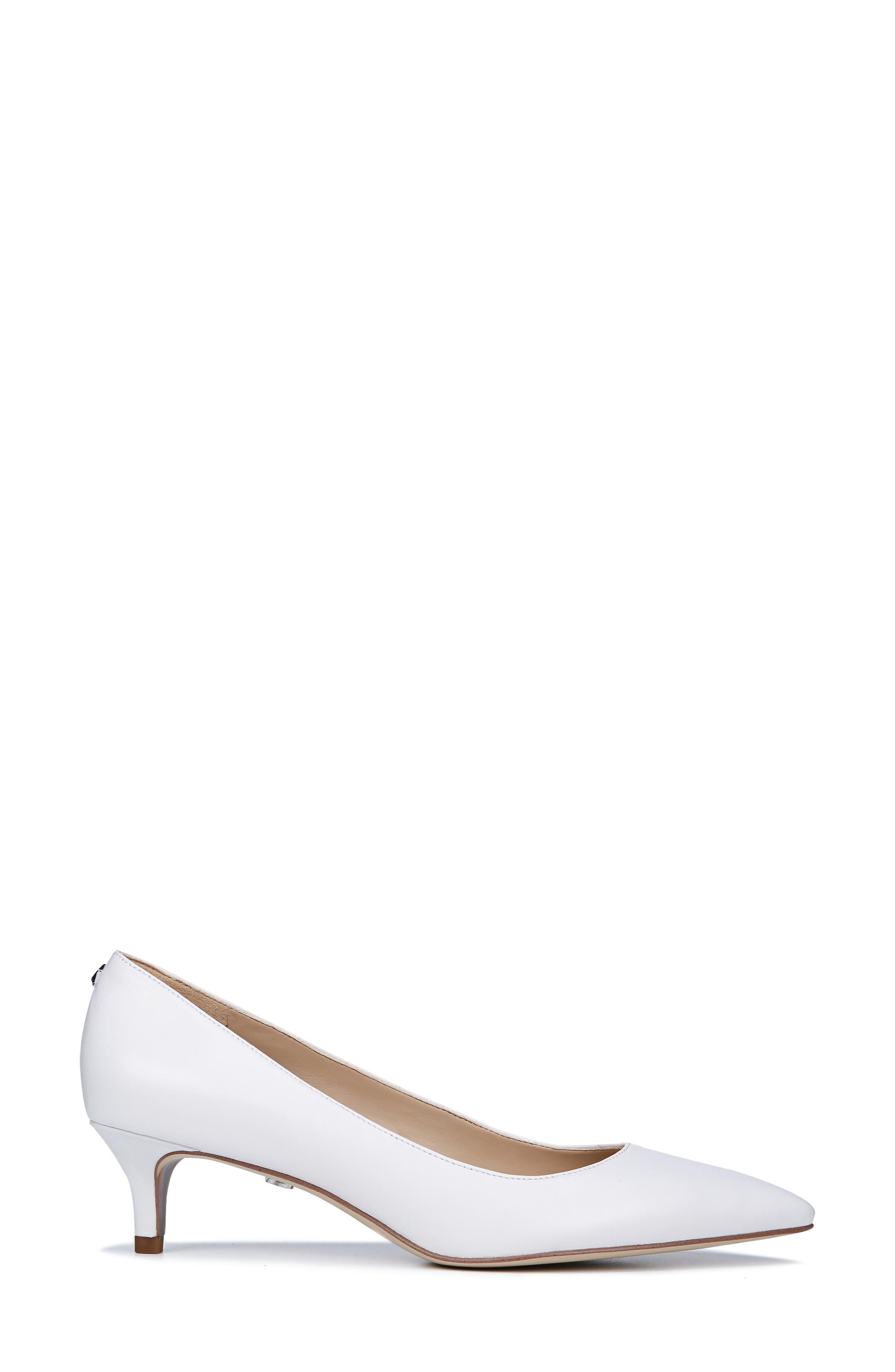 Dori Pump,                             Alternate thumbnail 3, color,                             BRIGHT WHITE LEATHER