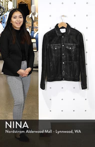 Slim Fit Leather Western Jacket, sales video thumbnail