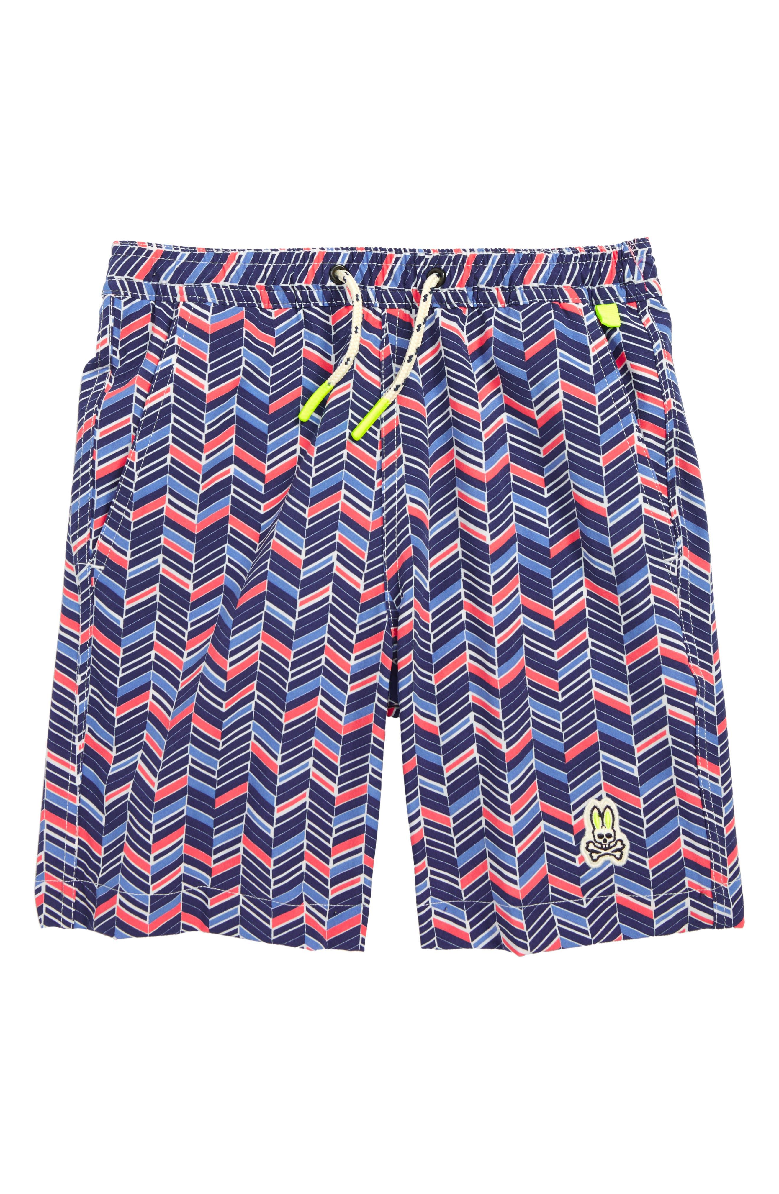 Swim Trunks,                         Main,                         color, BLUE PRINT