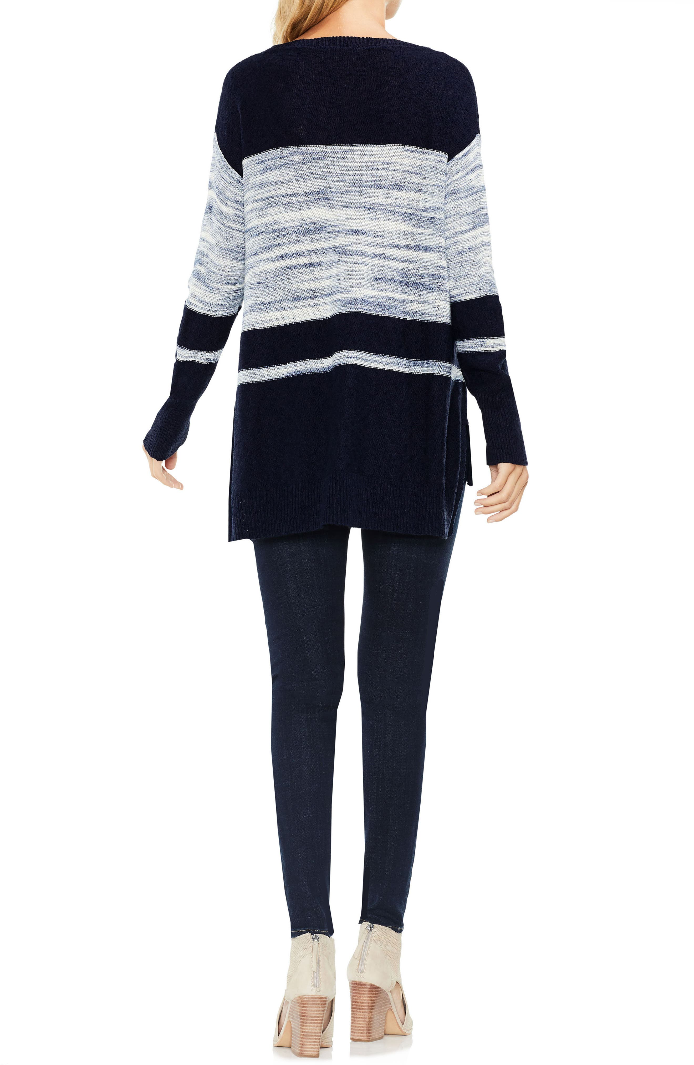 Space Dye Stripe Sweater,                             Alternate thumbnail 3, color,