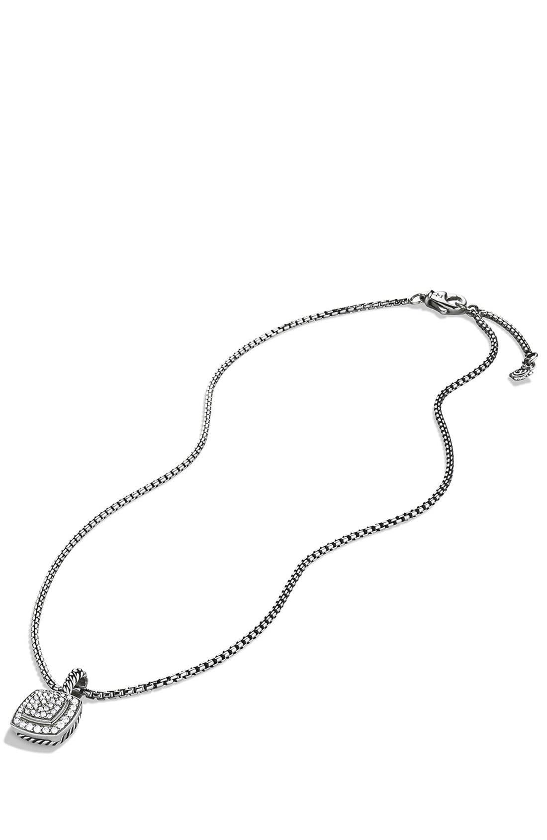 'Albion' Petite Pendant with Diamonds on Chain,                             Alternate thumbnail 4, color,                             DIAMOND