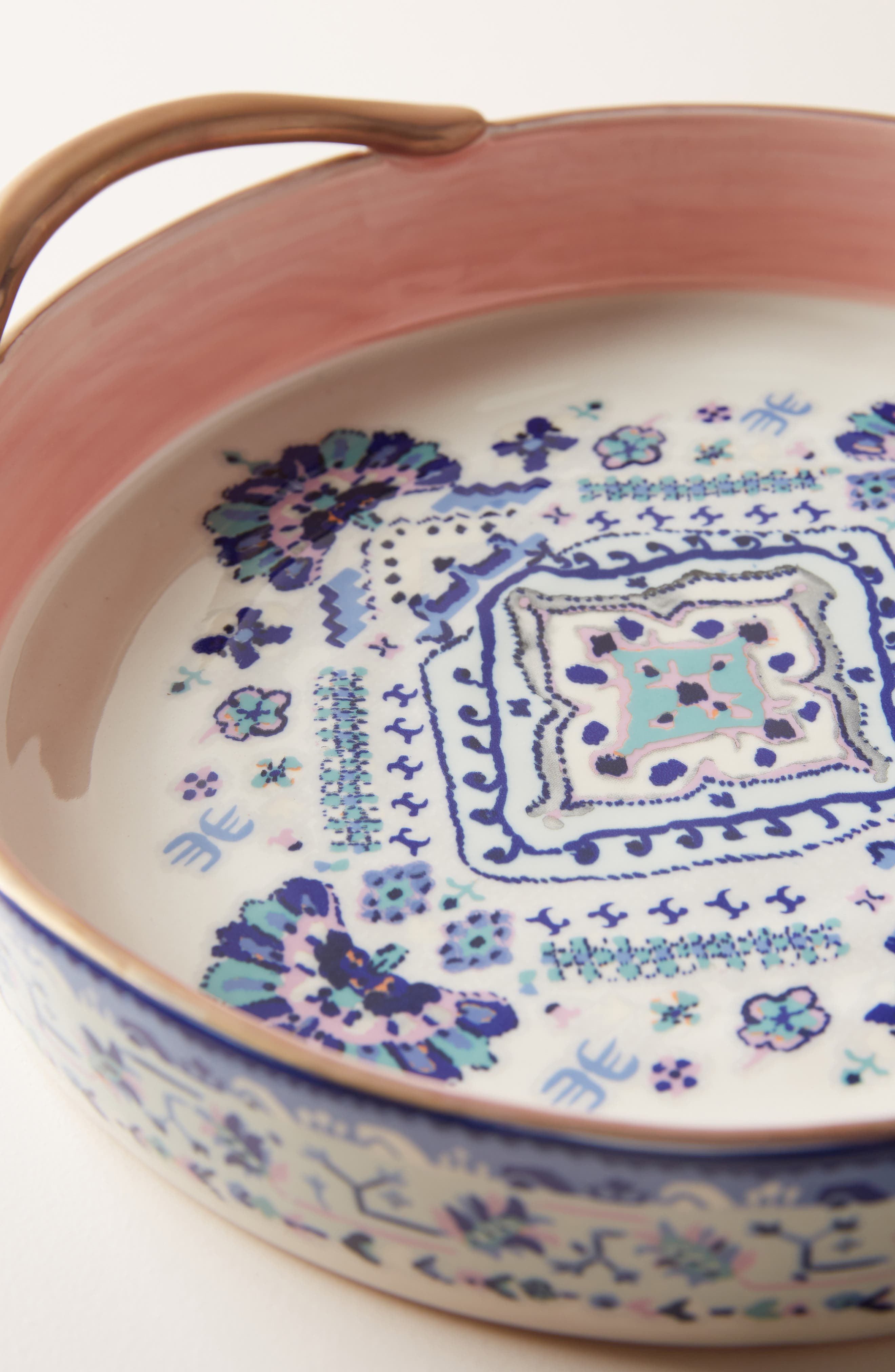 Lilia Pie Dish,                             Alternate thumbnail 2, color,                             BLUE
