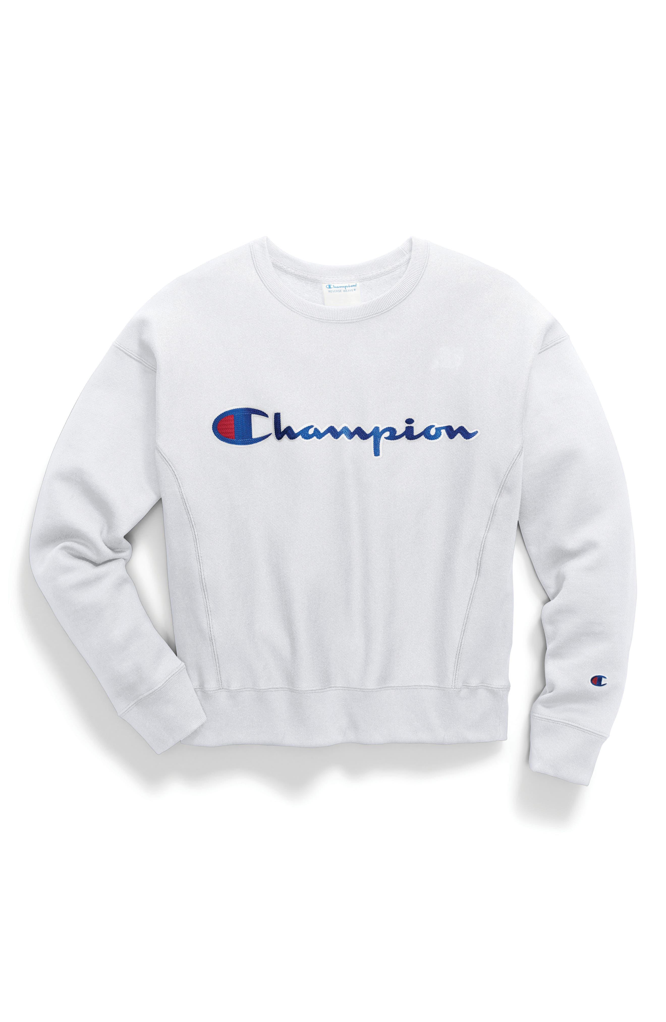 Logo Sweatshirt,                             Alternate thumbnail 2, color,                             WHITE