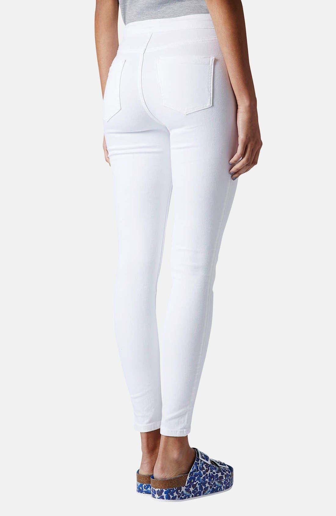 Moto 'Joni' High Rise Skinny Jeans,                             Alternate thumbnail 4, color,                             100