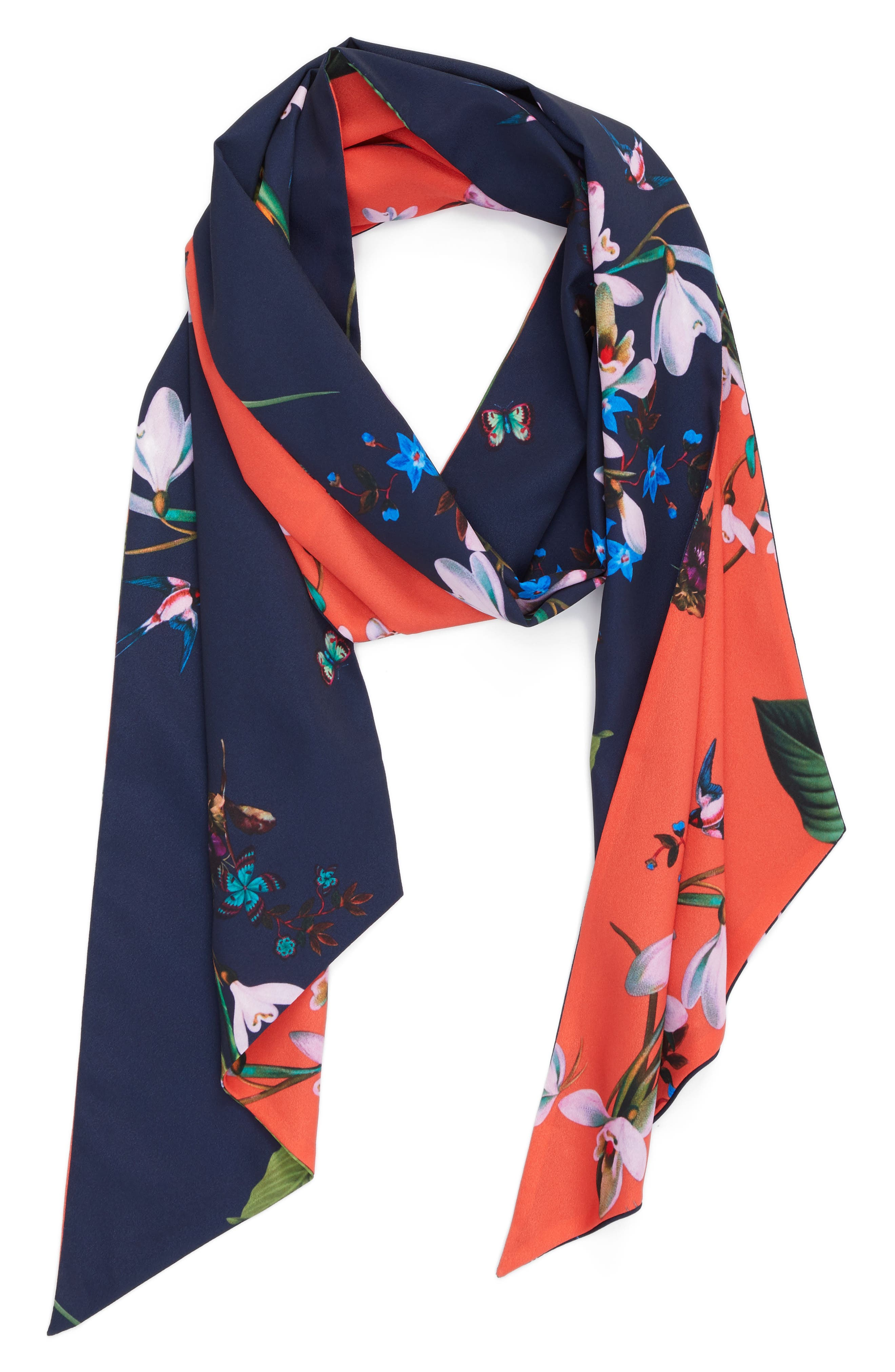 Tropical Oasis Skinny Scarf,                             Alternate thumbnail 2, color,                             400