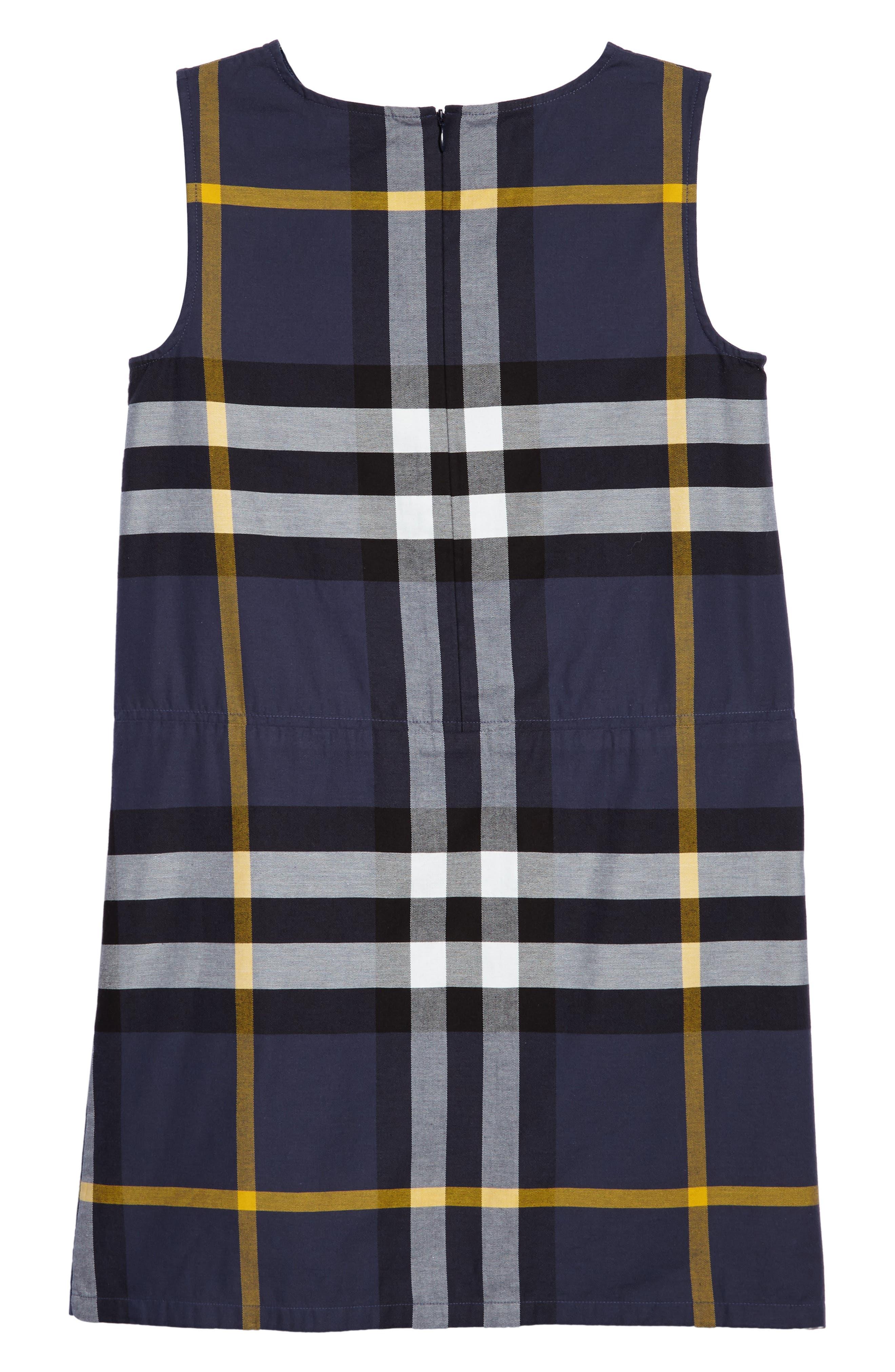 Dawny Check Print Sleeveless Dress,                             Alternate thumbnail 2, color,                             412