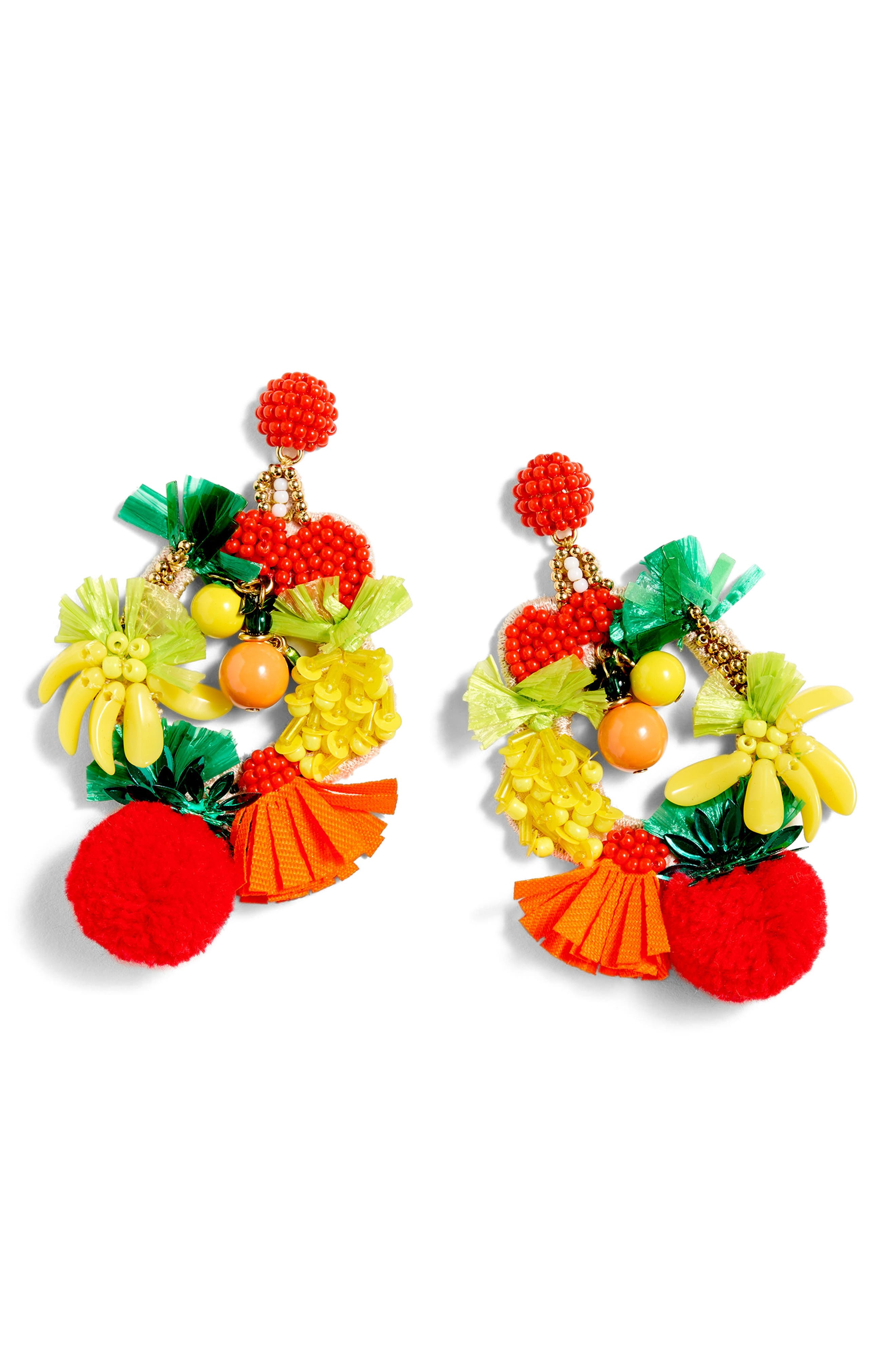 Fruit Bowl Earrings,                             Alternate thumbnail 3, color,