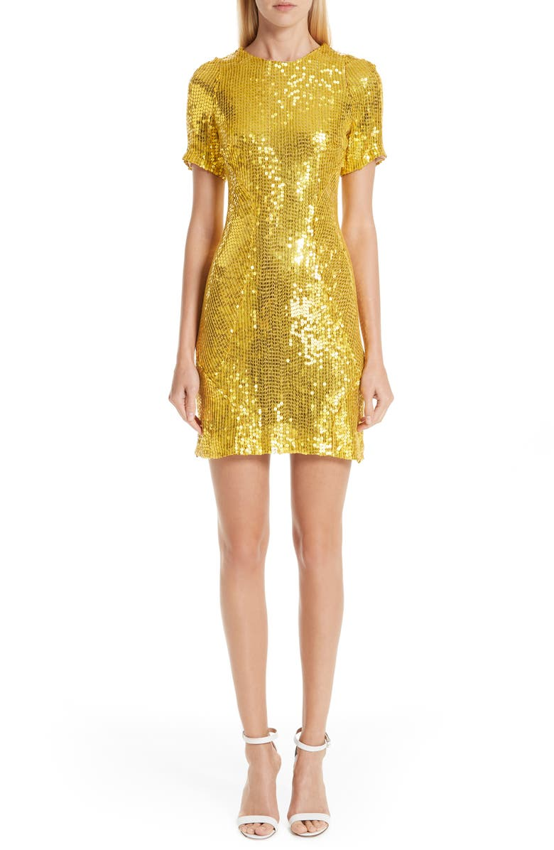 Galvan CLARA SEQUIN MINIDRESS