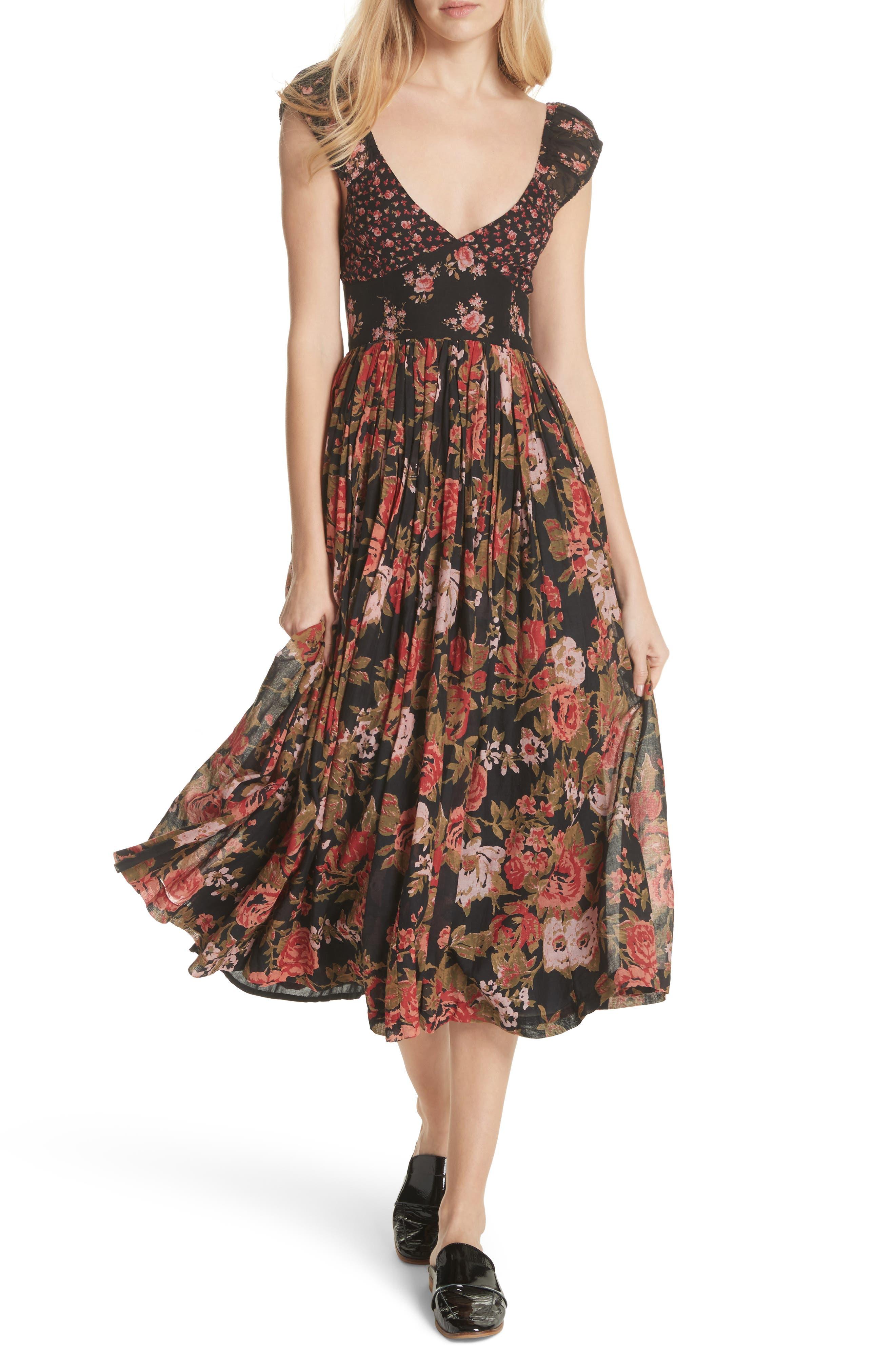 Love You Midi Dress,                             Alternate thumbnail 6, color,                             001