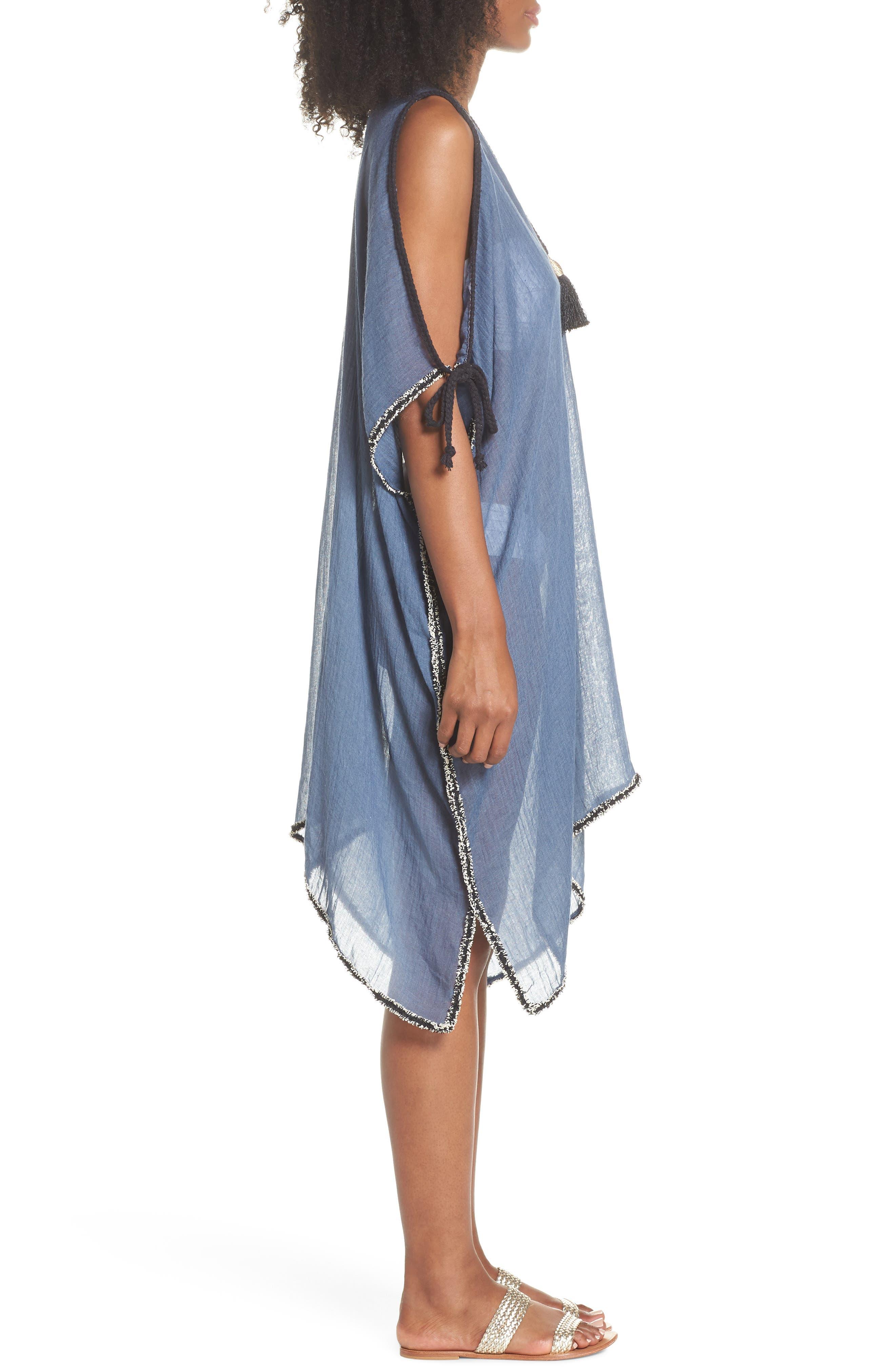 Cold Shoulder Cover-Up Dress,                             Alternate thumbnail 3, color,                             414