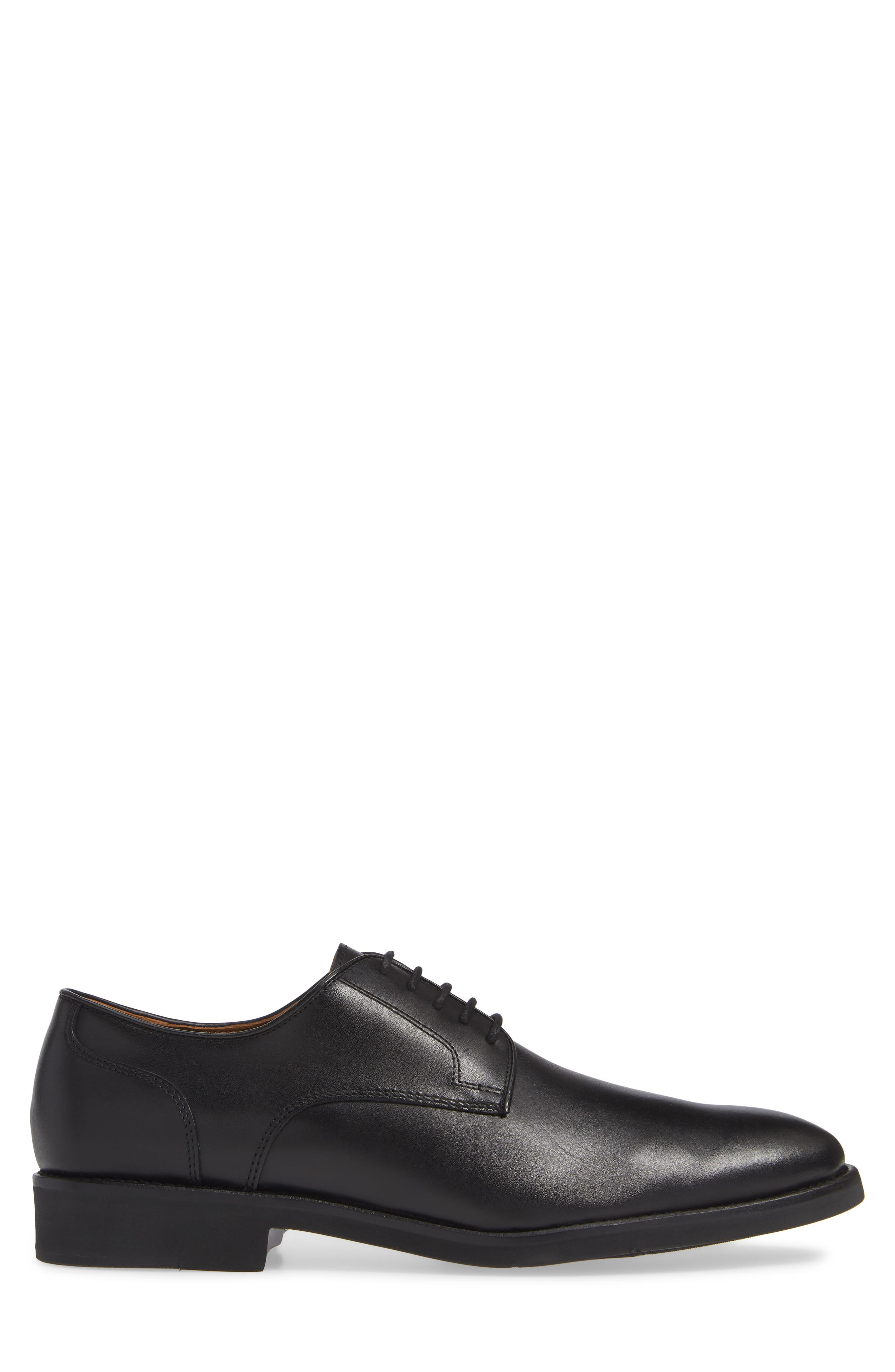 Carlson Derby,                             Alternate thumbnail 3, color,                             BLACK LEATHER