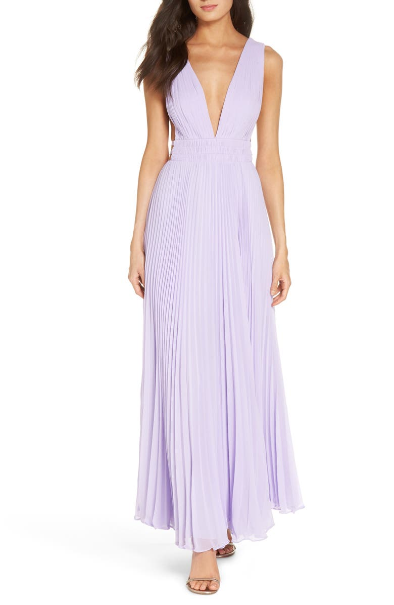 Fame & Partners The Peyton Pleated Gown | Nordstrom