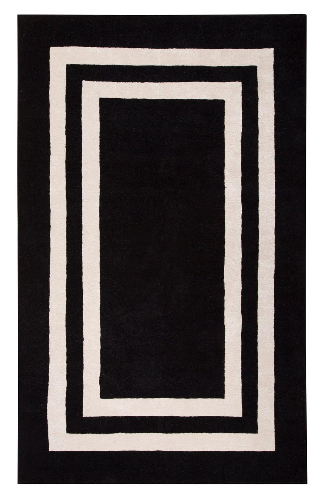 'gramercy - border pattern' wool blend rug,                             Main thumbnail 1, color,                             001