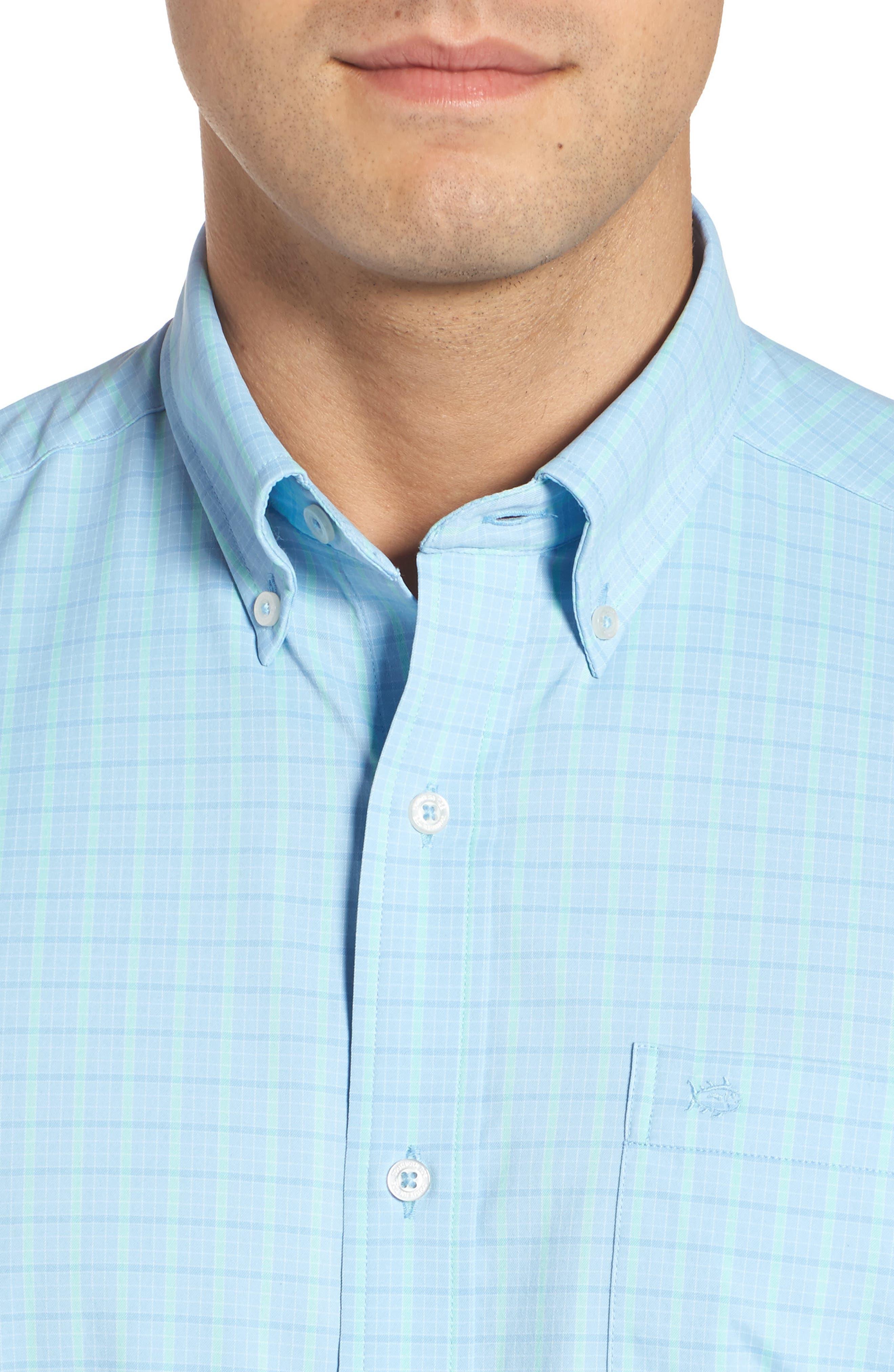 Intercoastal Gordia Plaid Sport Shirt,                             Alternate thumbnail 8, color,