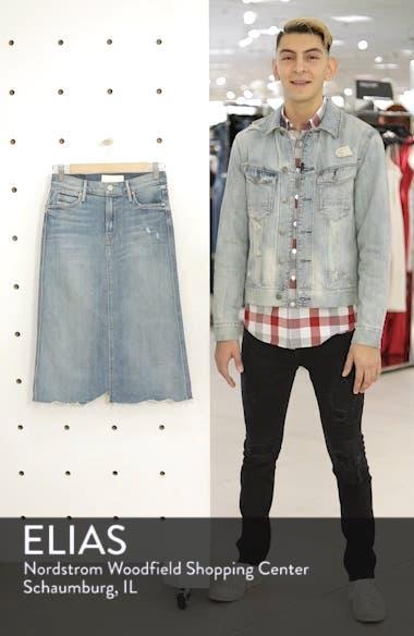 Swooner Straight-A Chewed Hem Denim Skirt, sales video thumbnail